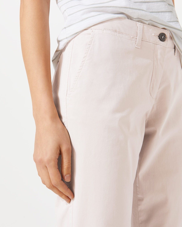 Washed Cotton Slim Leg Chino