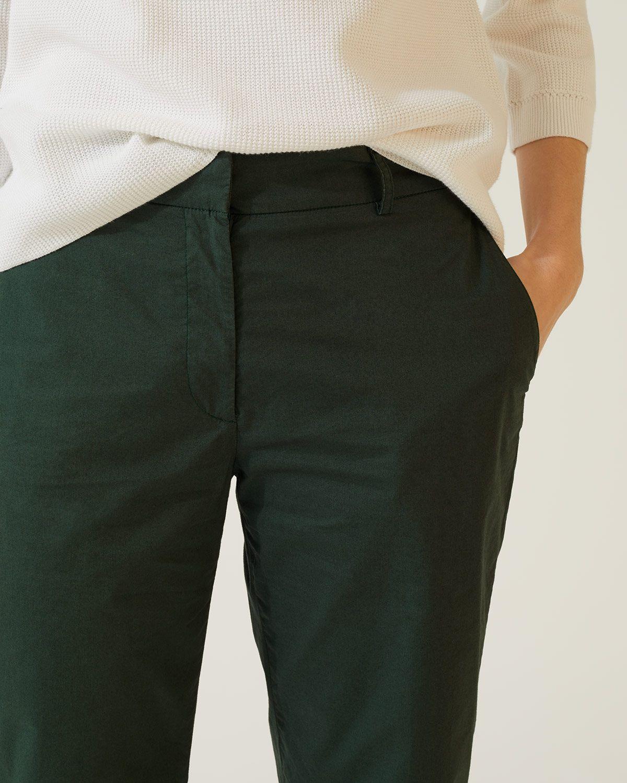 Poplin Crop Trouser