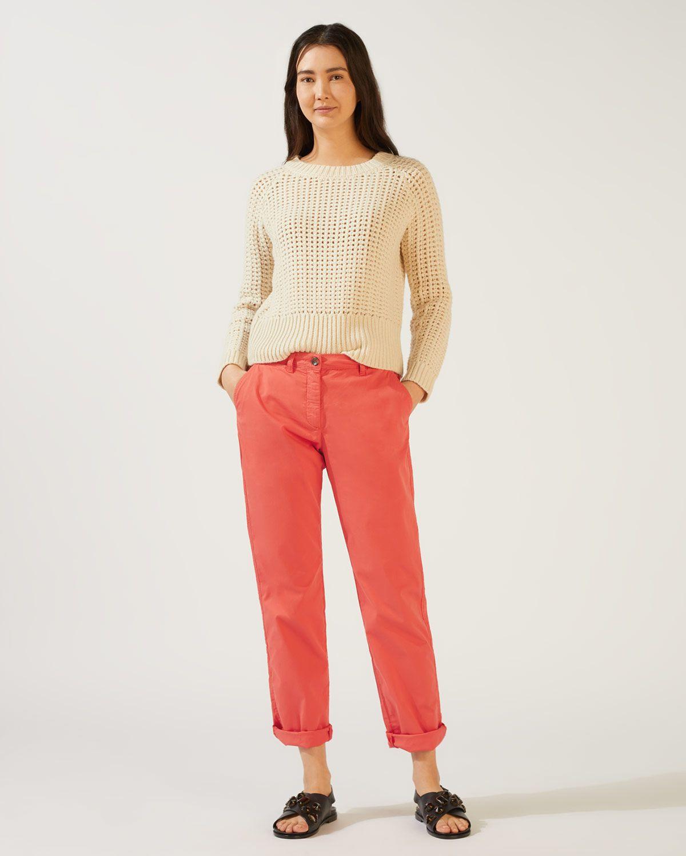 Slim Leg Cotton Chino Trouser