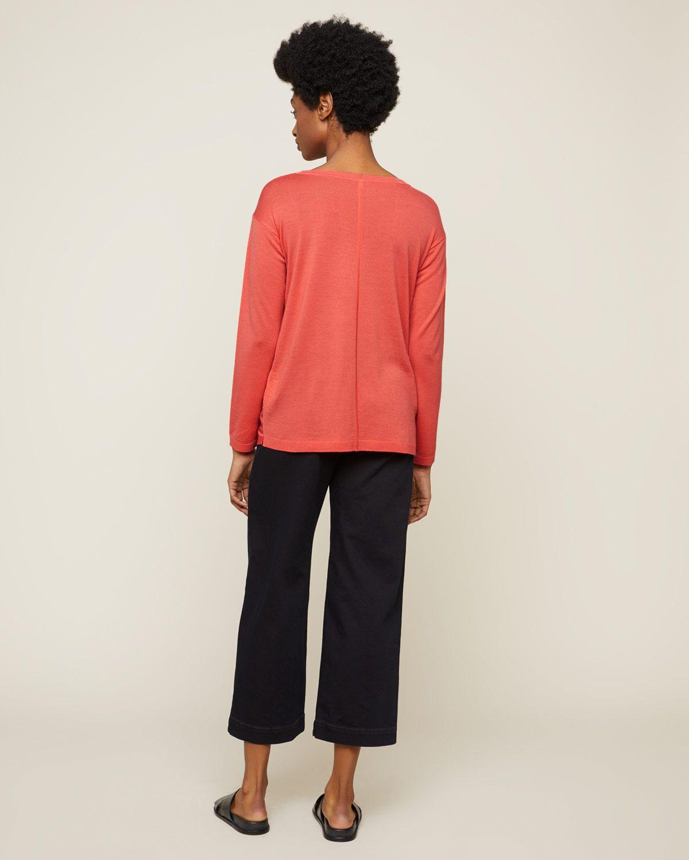 Silk Front KnitBlouse