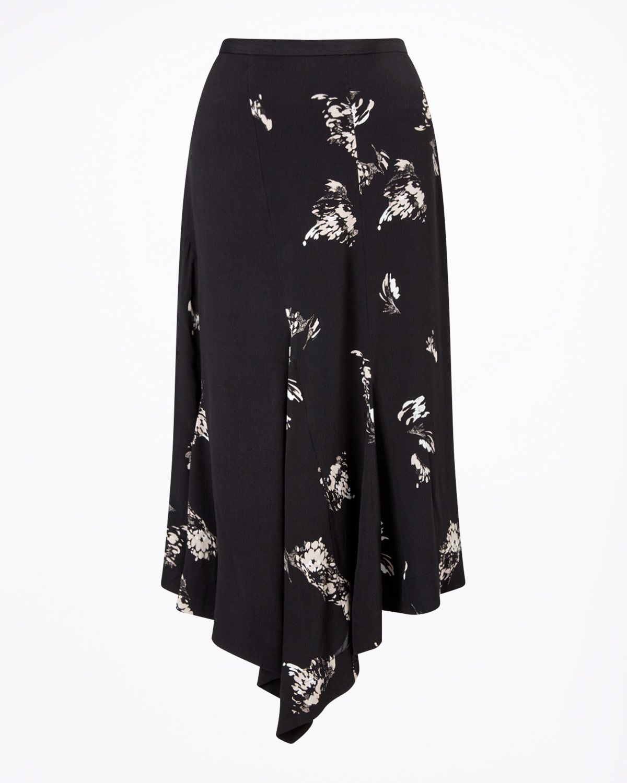 Petal Fragments Midi Skirt