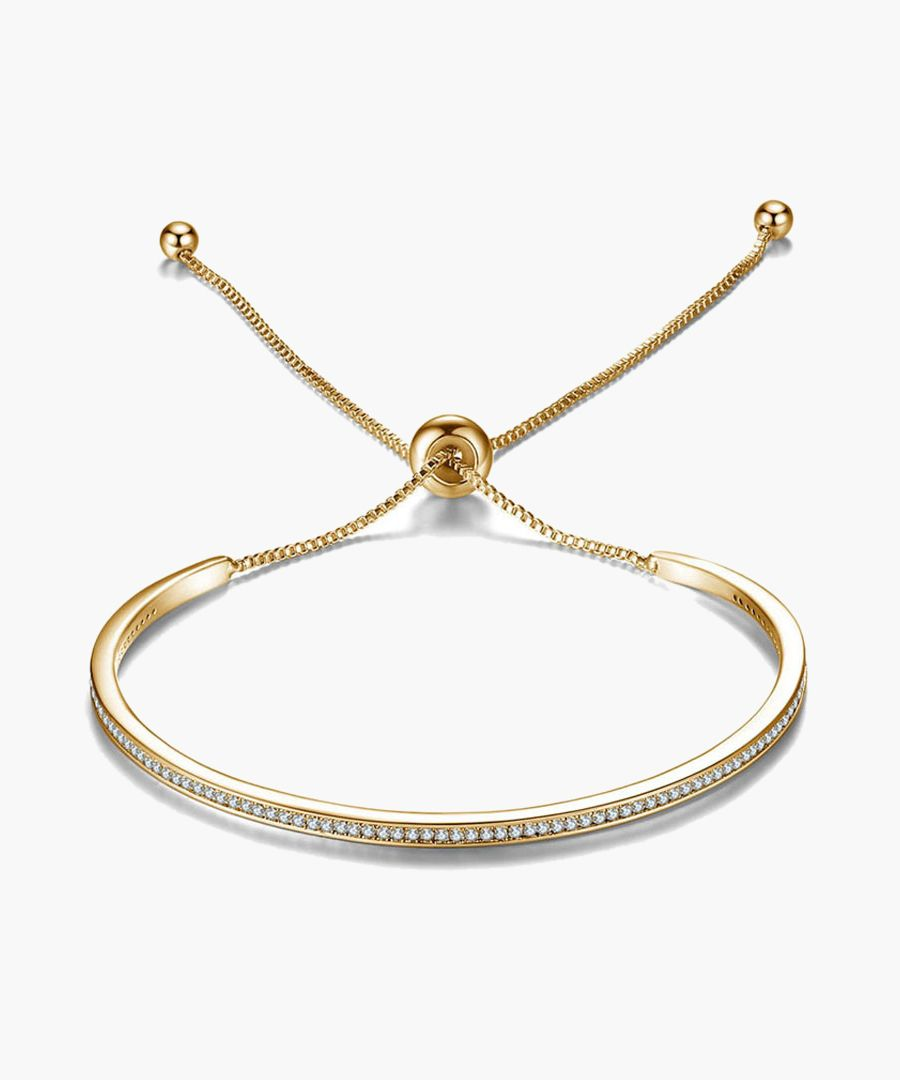 Gold-tone Swarovski crystal friendship bracelet
