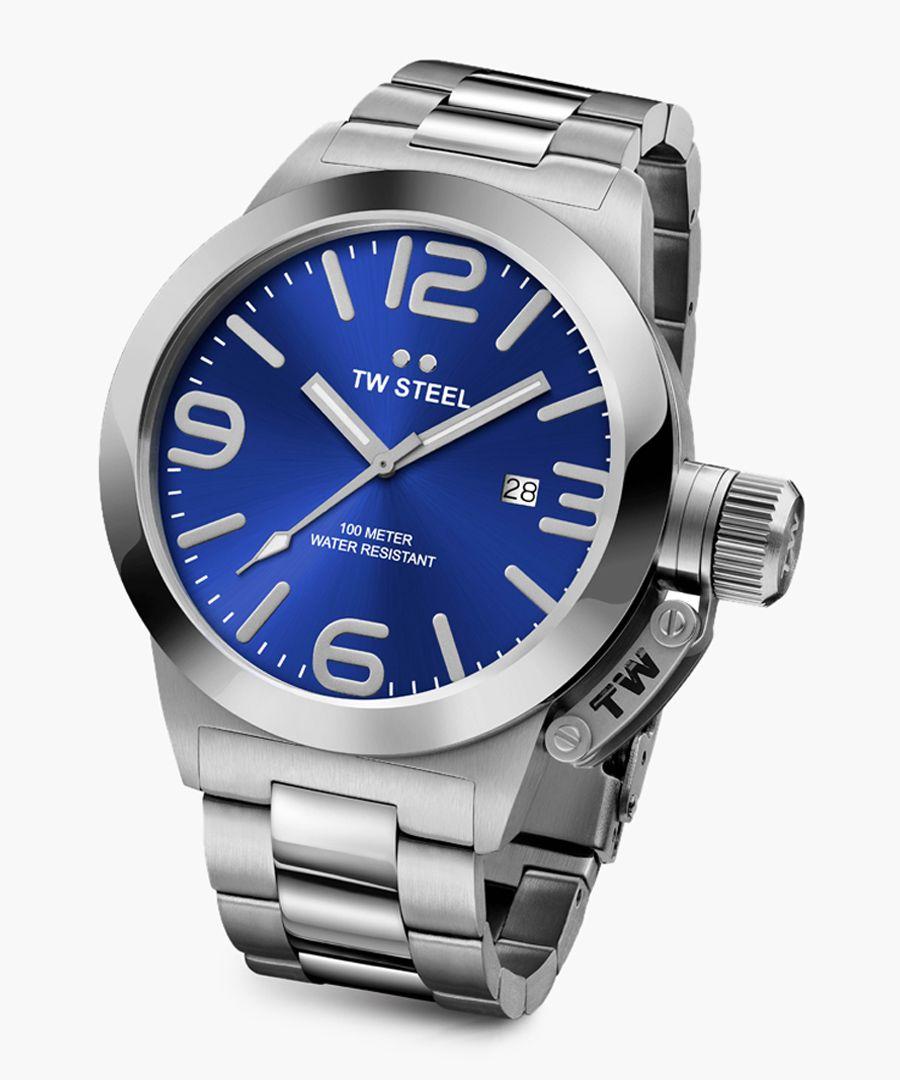 Canteen silver-tone watch