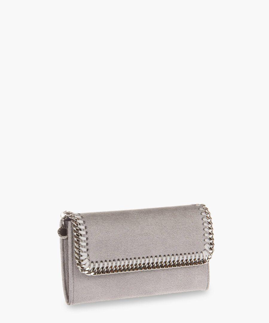 Falabella light grey chain purse