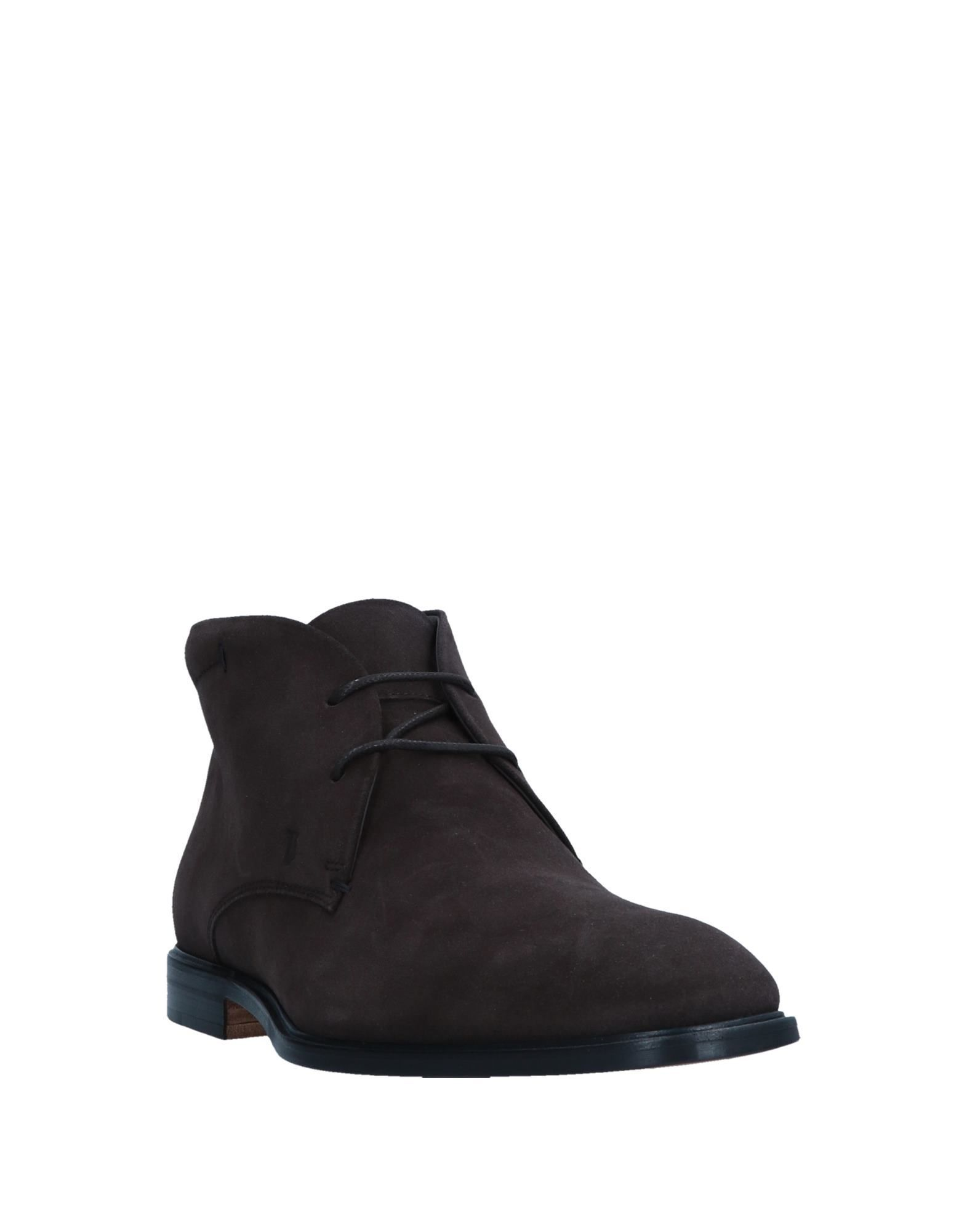 Tod's Dark Brown Leather Ankle Boots