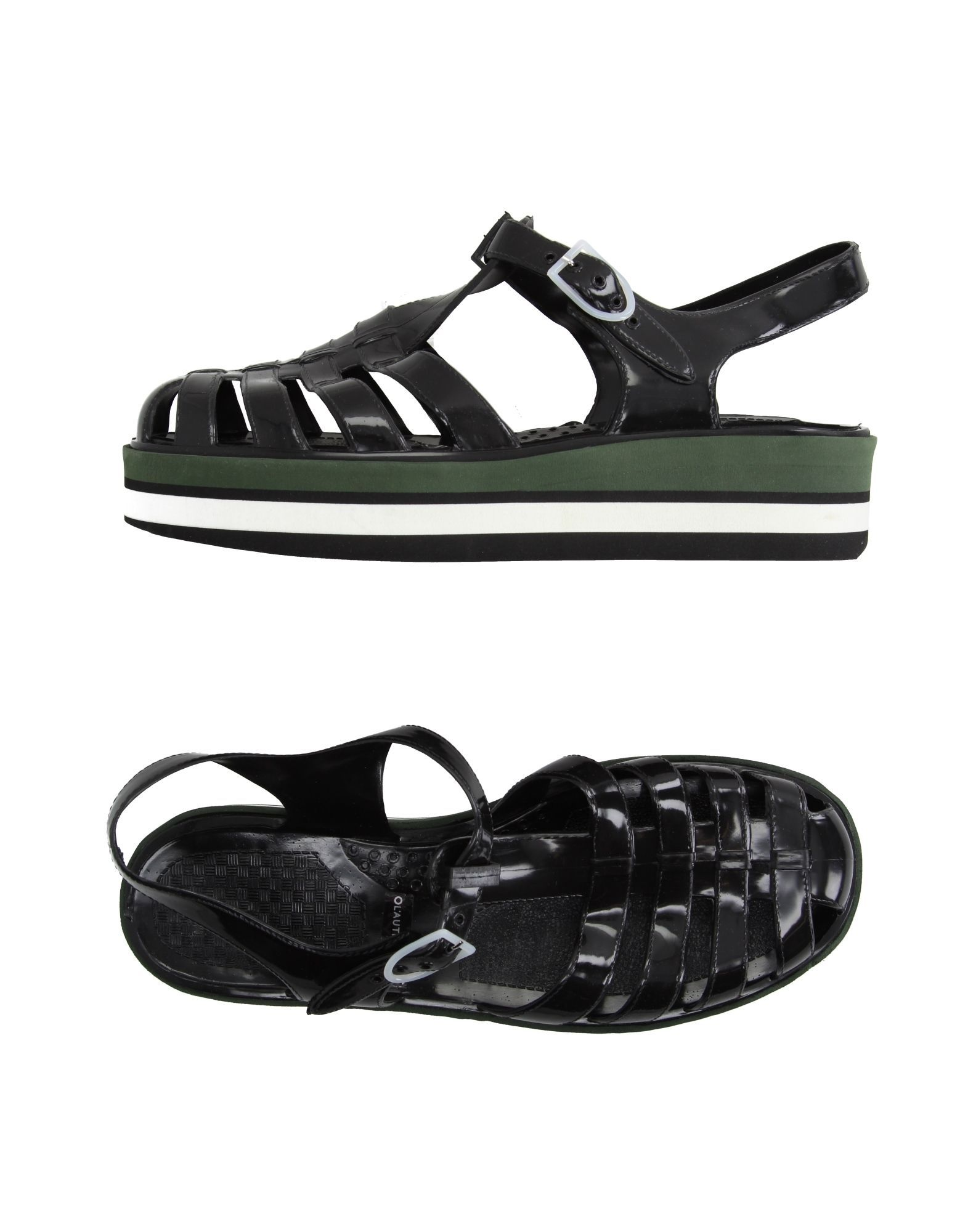 L' Autre Chose Black Sandals