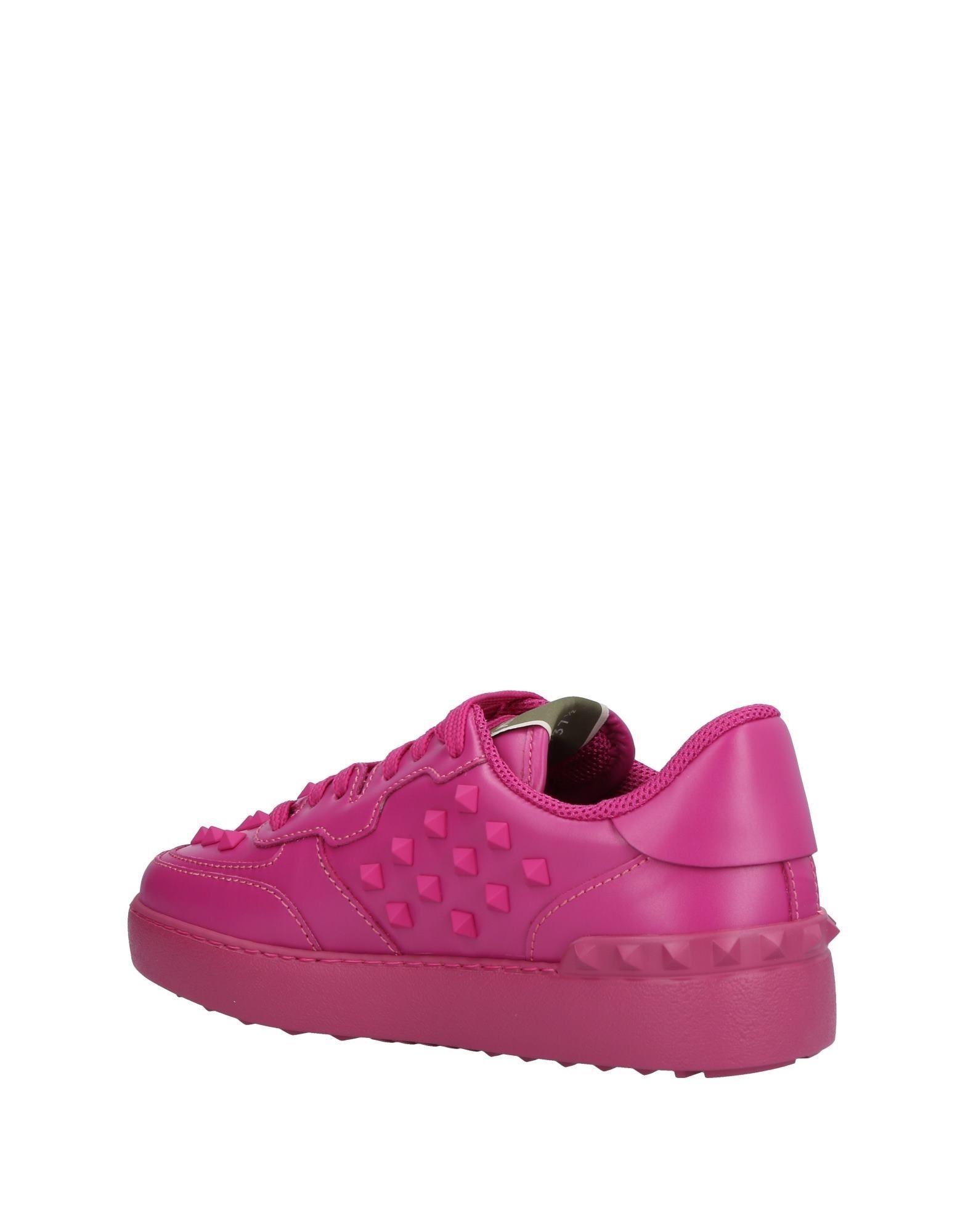 Valentino Garavani Fuchsia Leather Sneakers