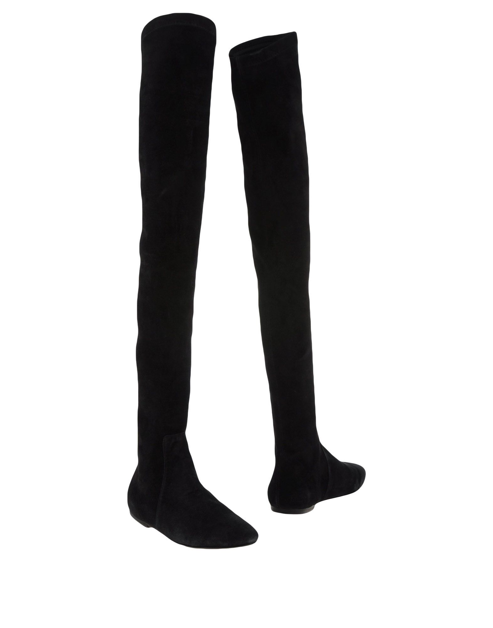 Isabel Marant Etoile Black Leather Over The Knee Boots