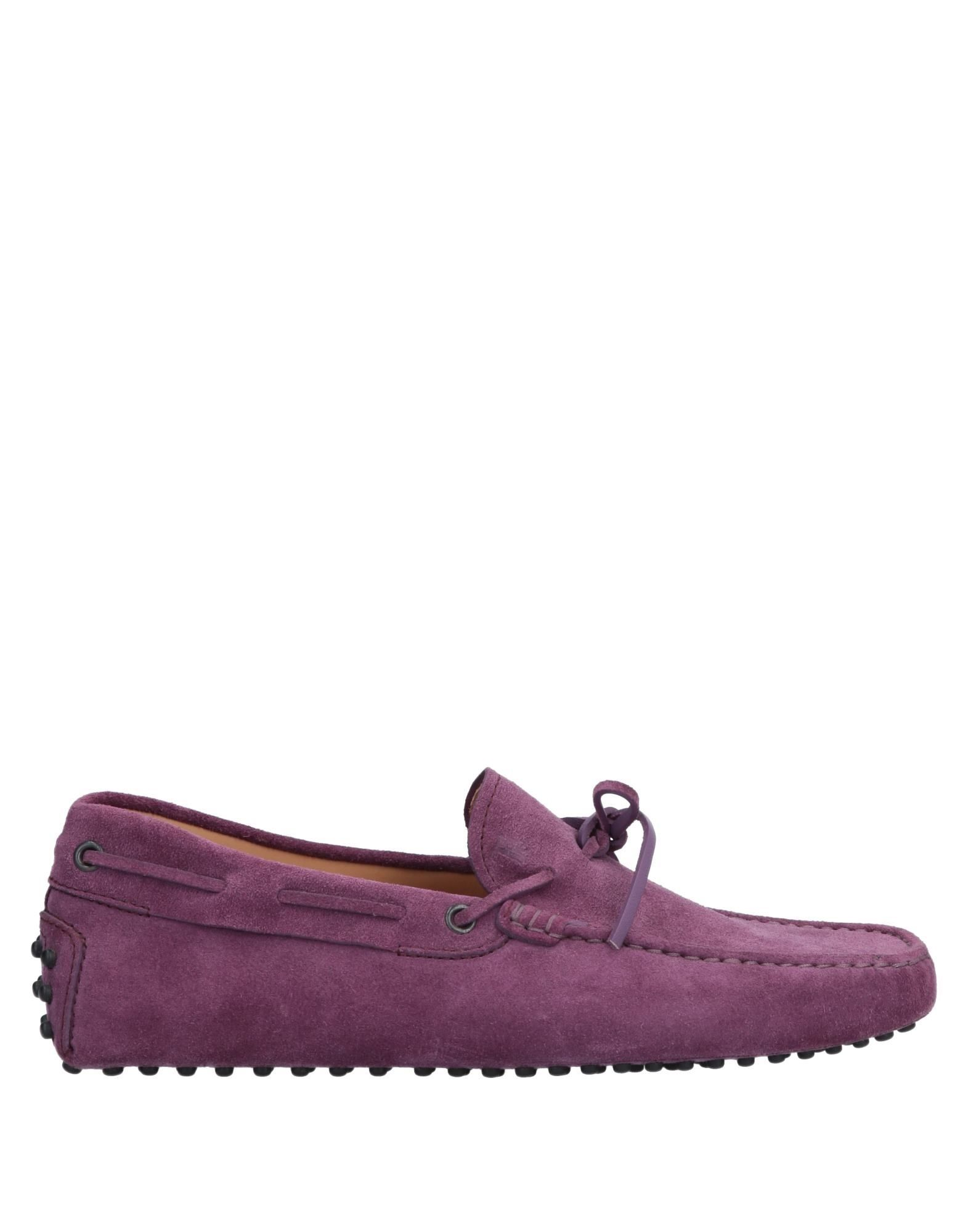 Tod's Purple Leather Loafers