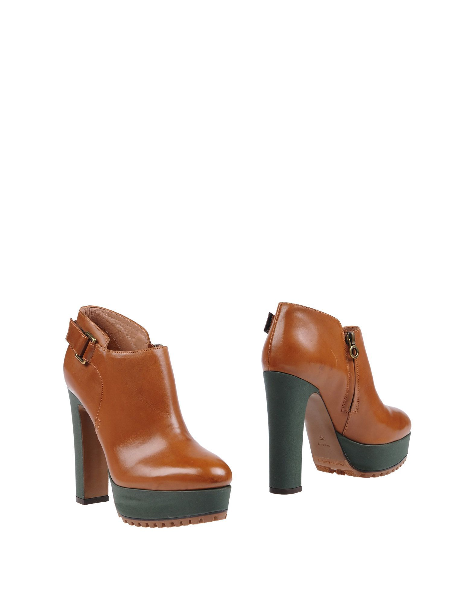 L' Autre Chose Brown Leather Ankle Boots