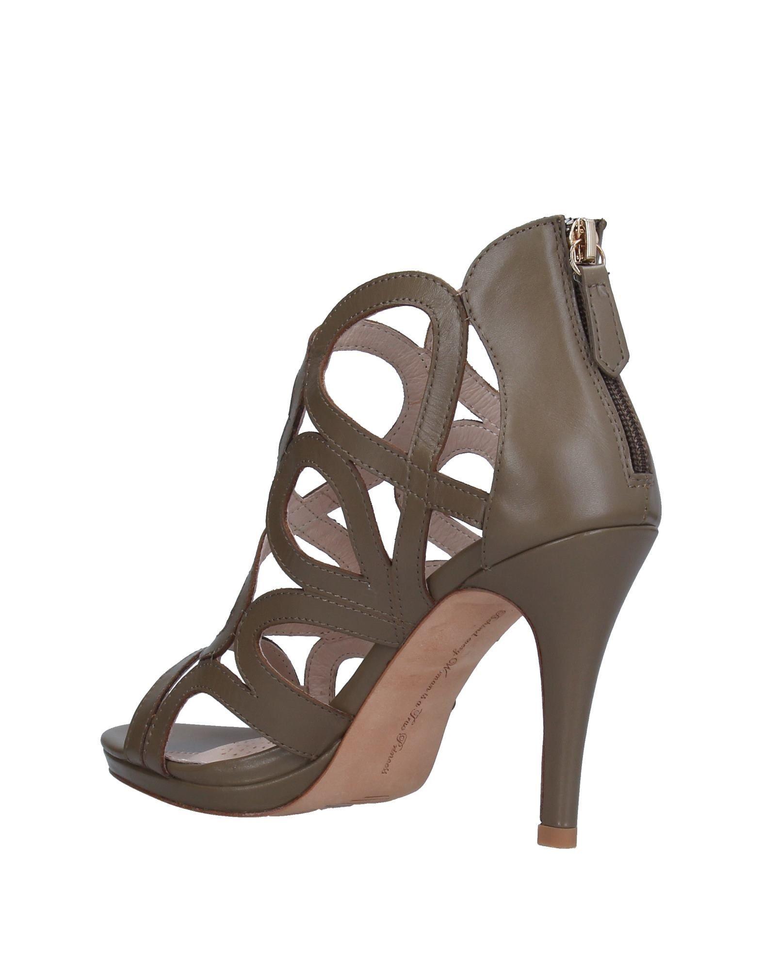 Sargossa Military Green Leather Heels