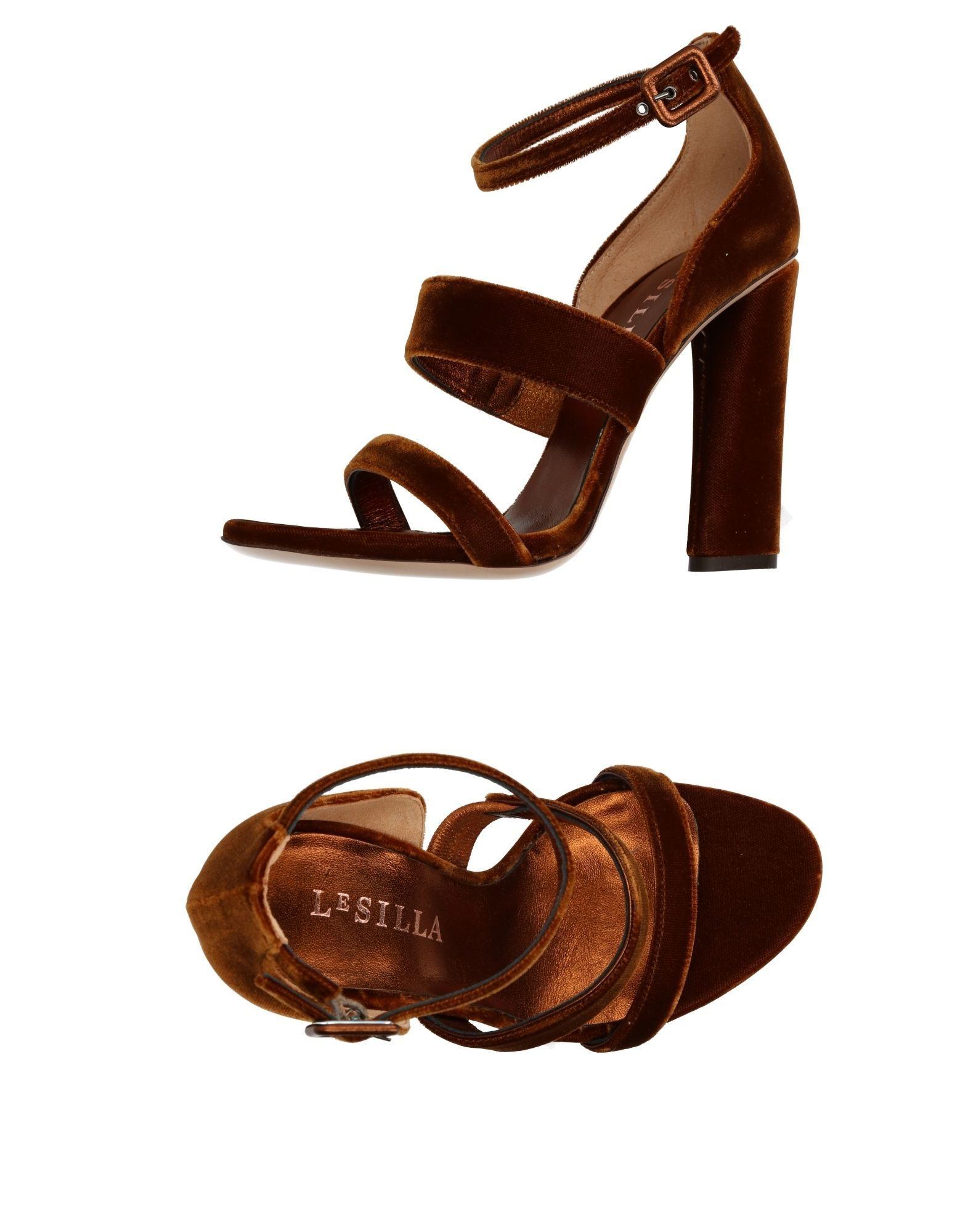 Le Silla Brown Velvet Heels