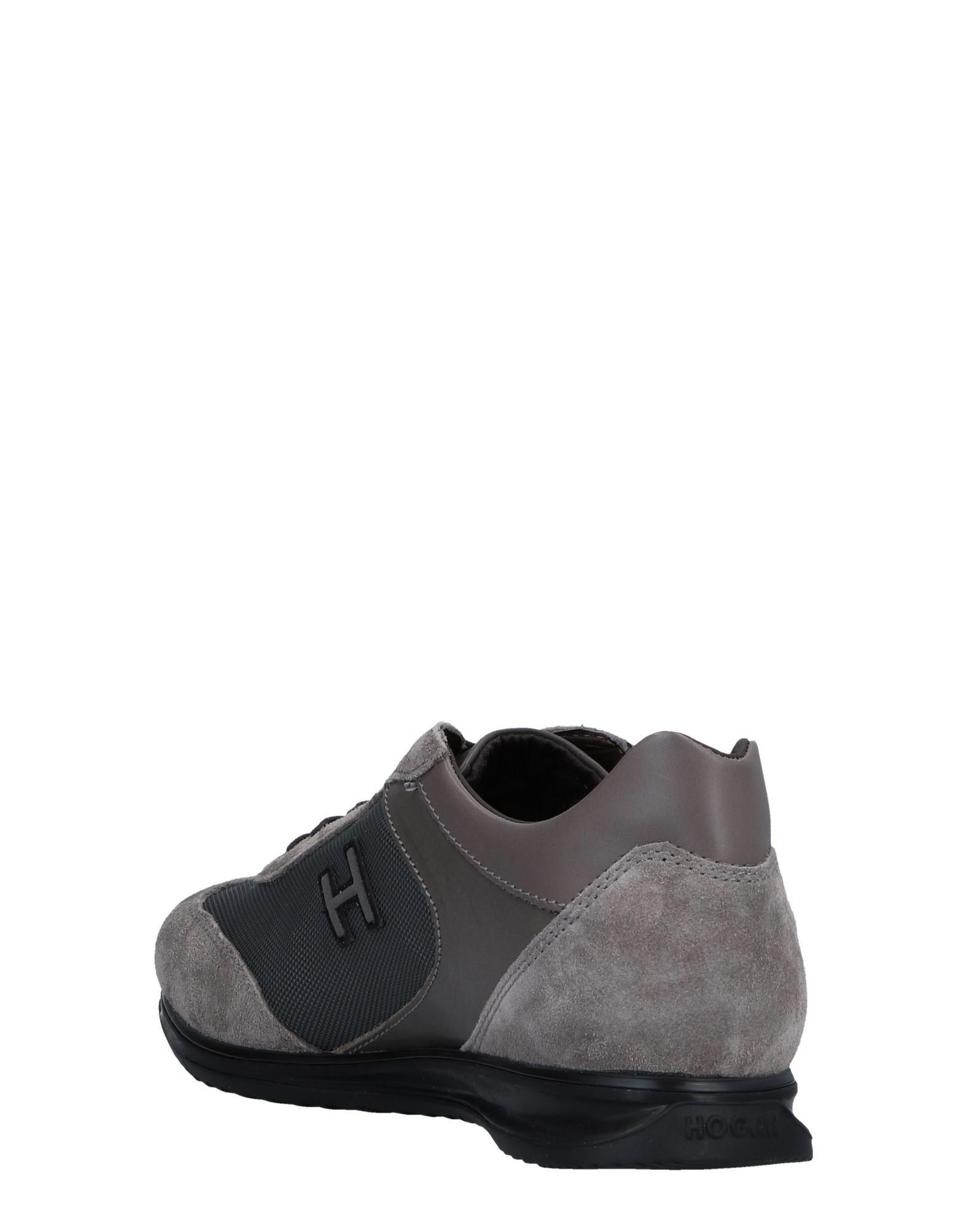 Hogan Light Grey Leather Sneakers