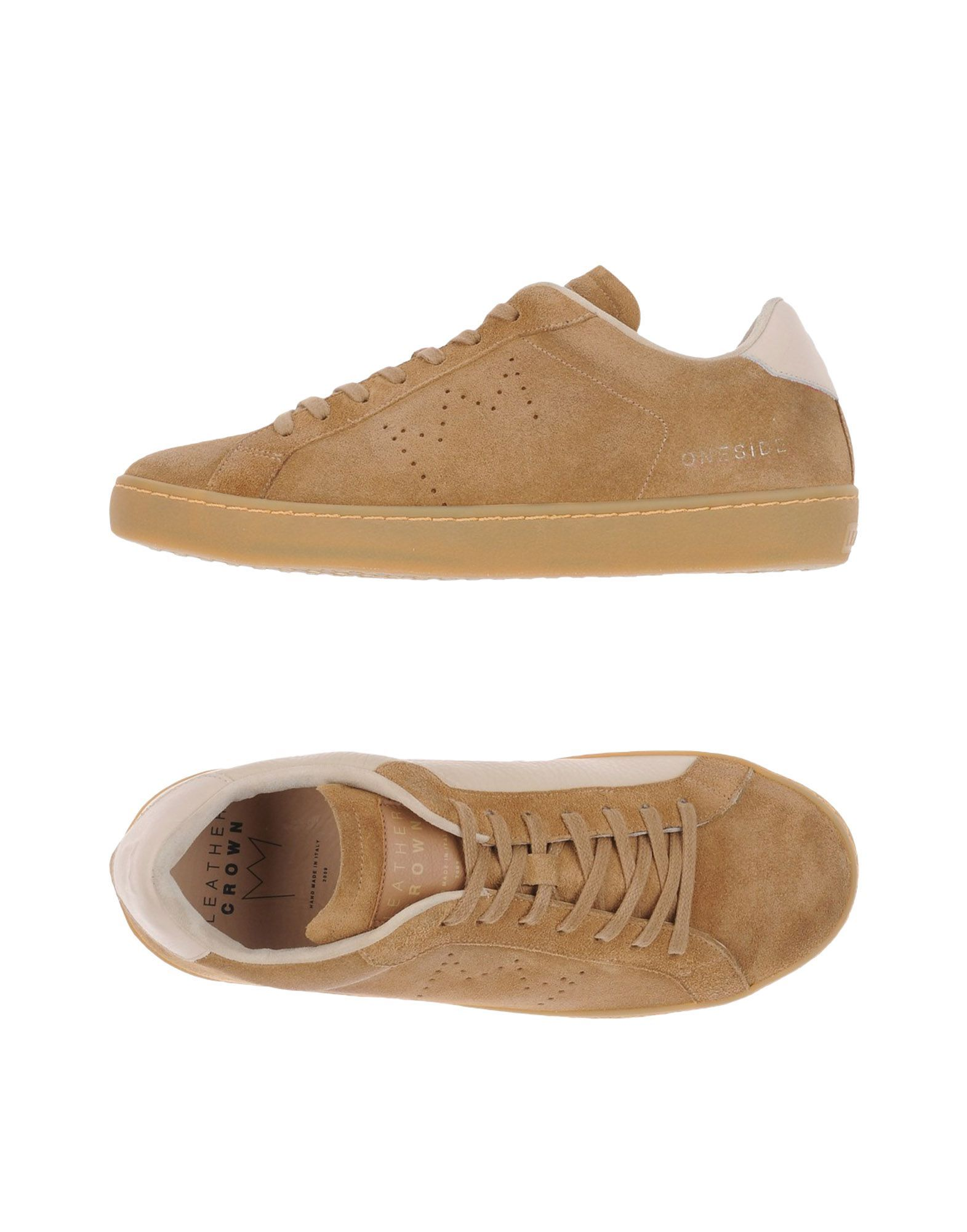 Leather Crown Man Camel Low-tops & sneakers