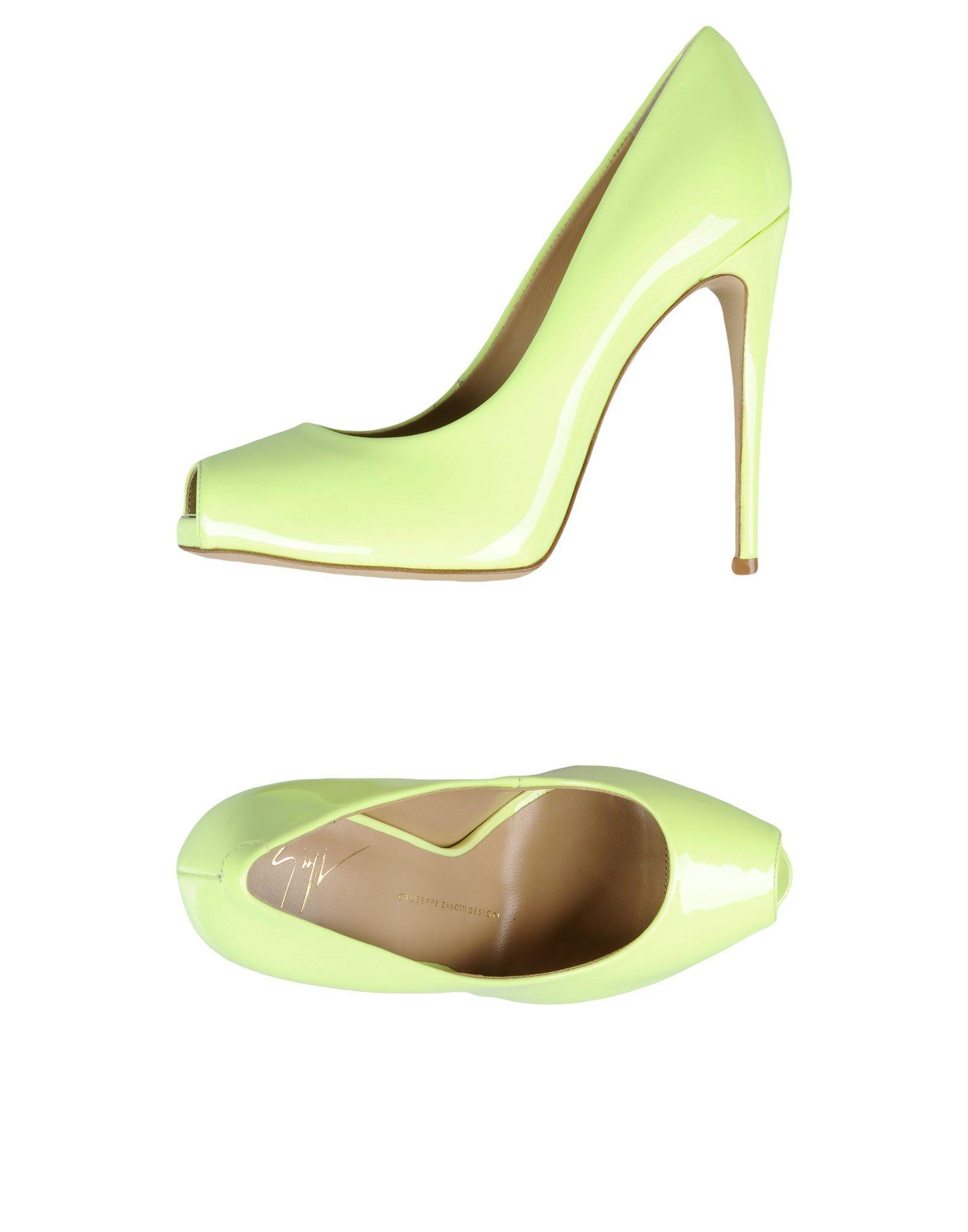 Giuseppe Zanotti Light Green Leather Peeptoe Heels