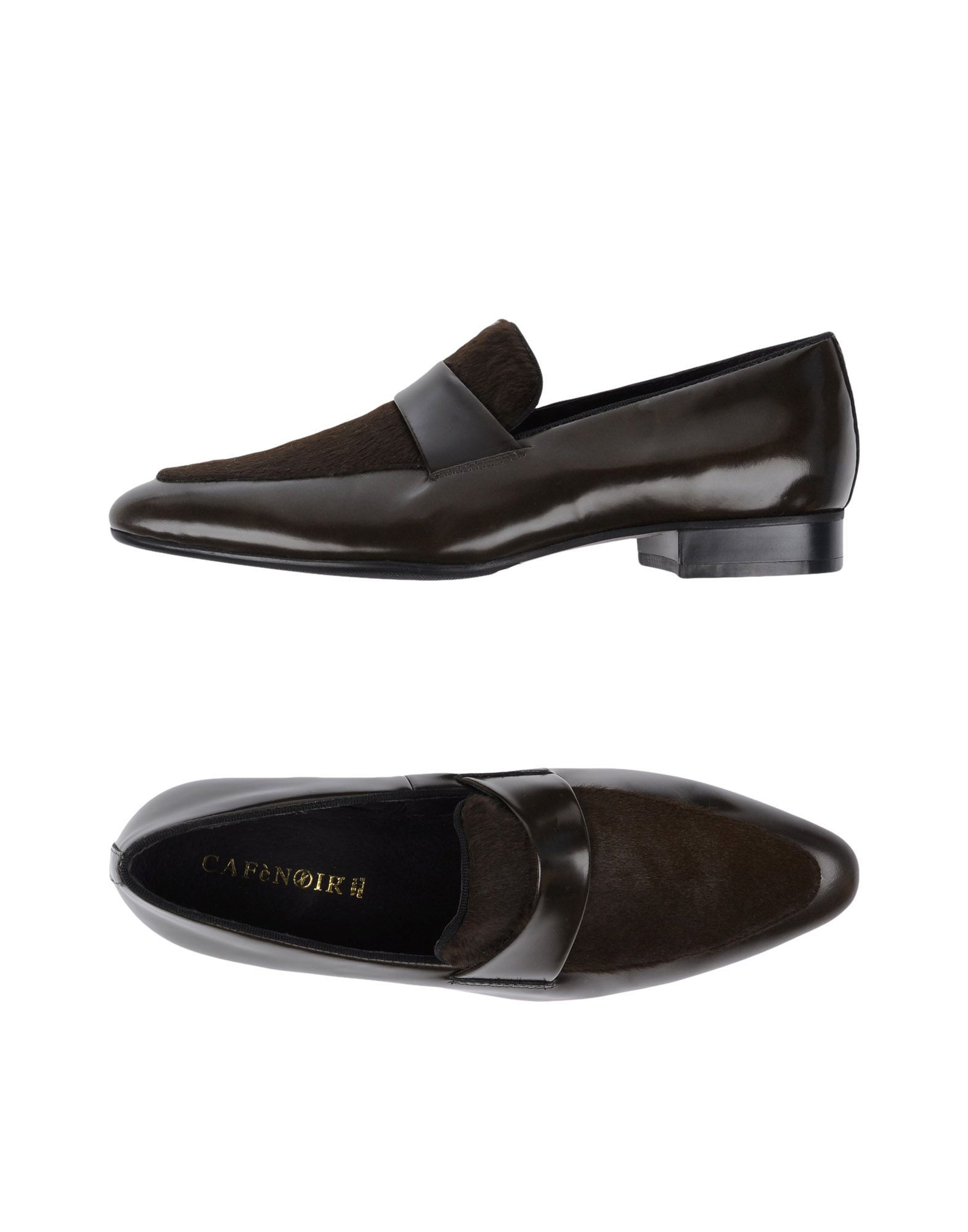 Cafenoir Dark Green Leather Loafers