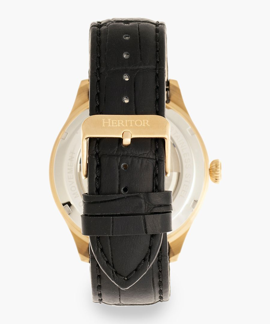 Heritor Automatic Gregory black watch