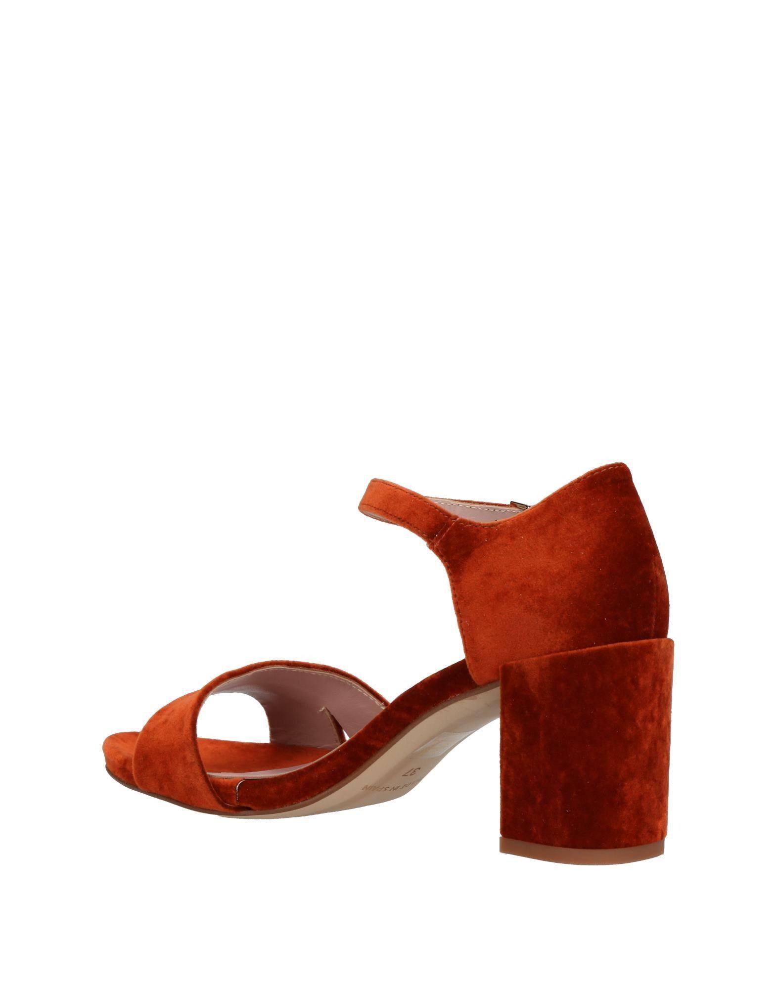 Ancarani Rust Velvet Heeled Sandals