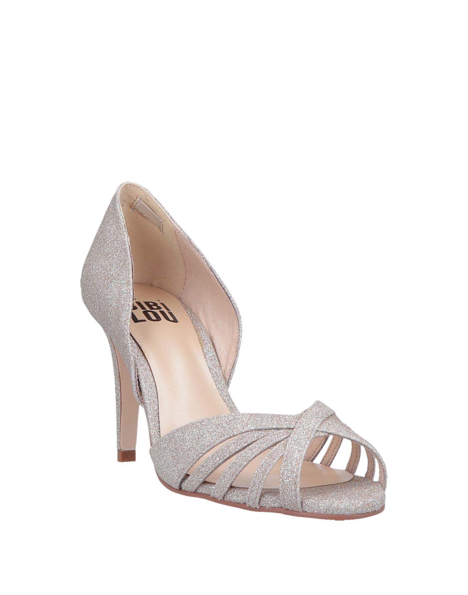 Bibi Lou Platinum Heels