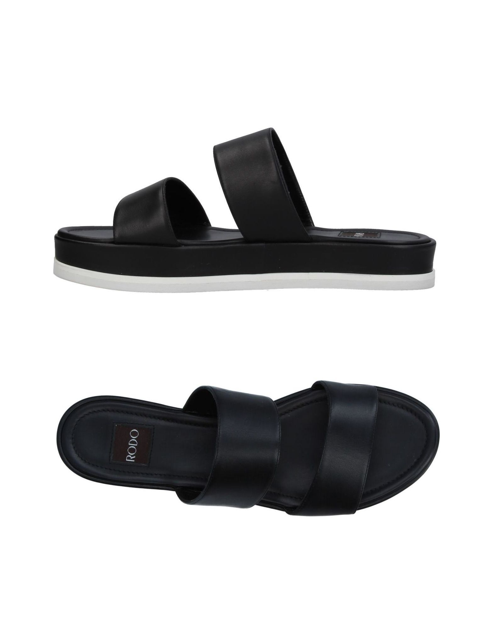 Rodo Black Calf Leather Sandals