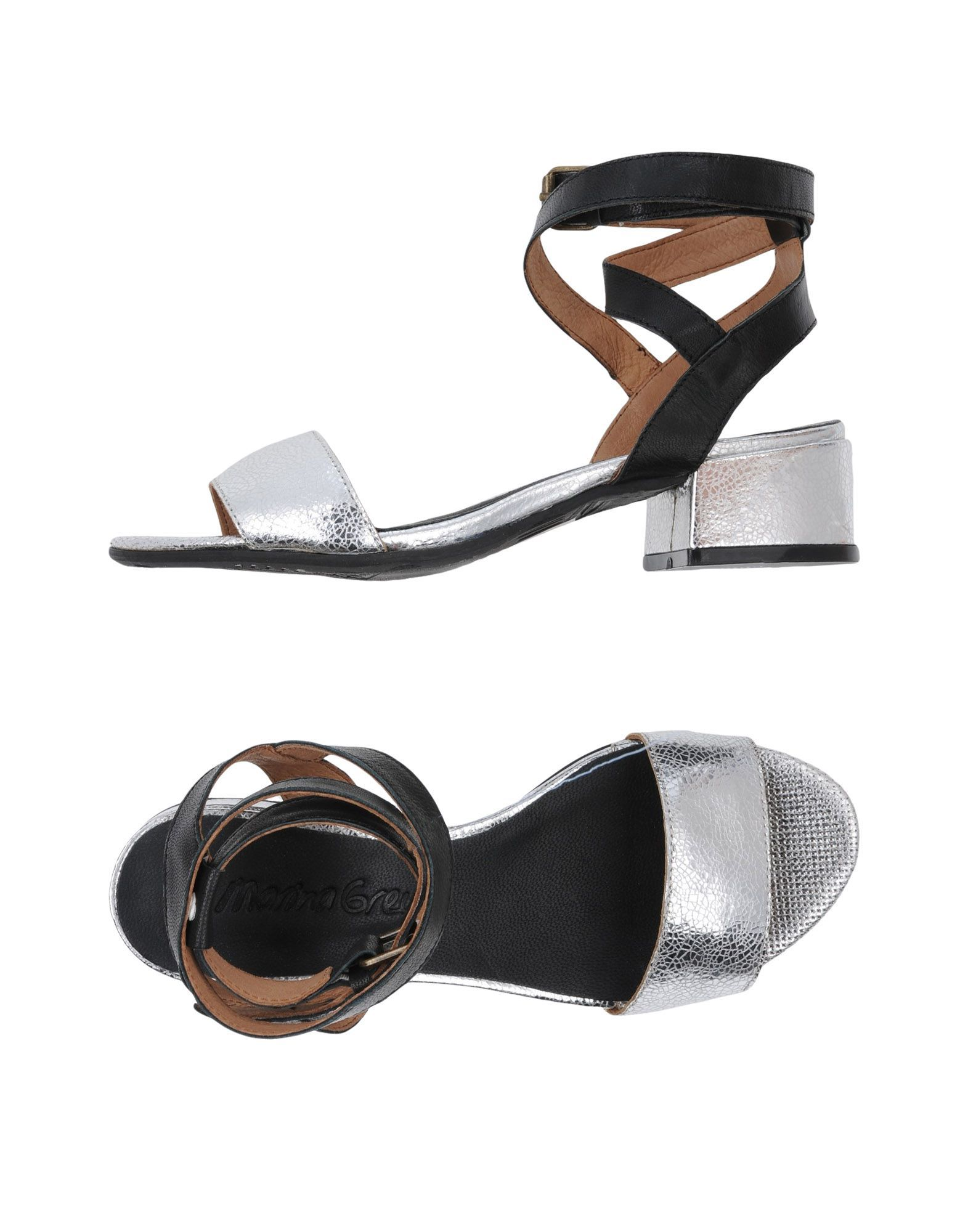 Marina Grey Silver Leather Sandals