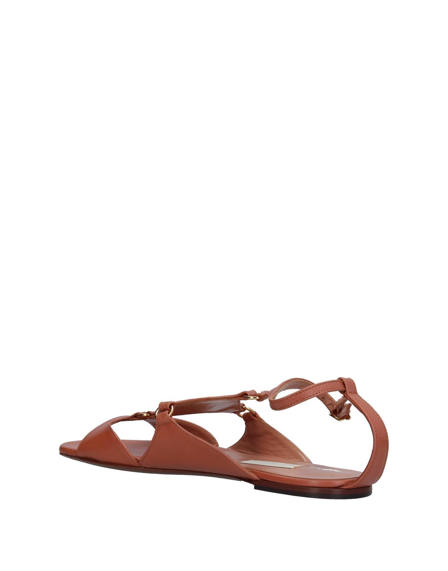 L' Autre Chose Pale Pink Leather Sandals
