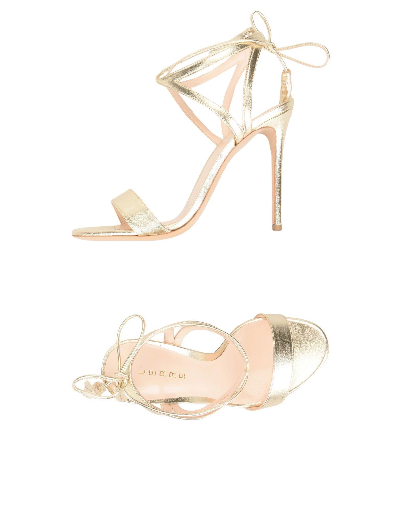 Lerre Platinum Leather Heels