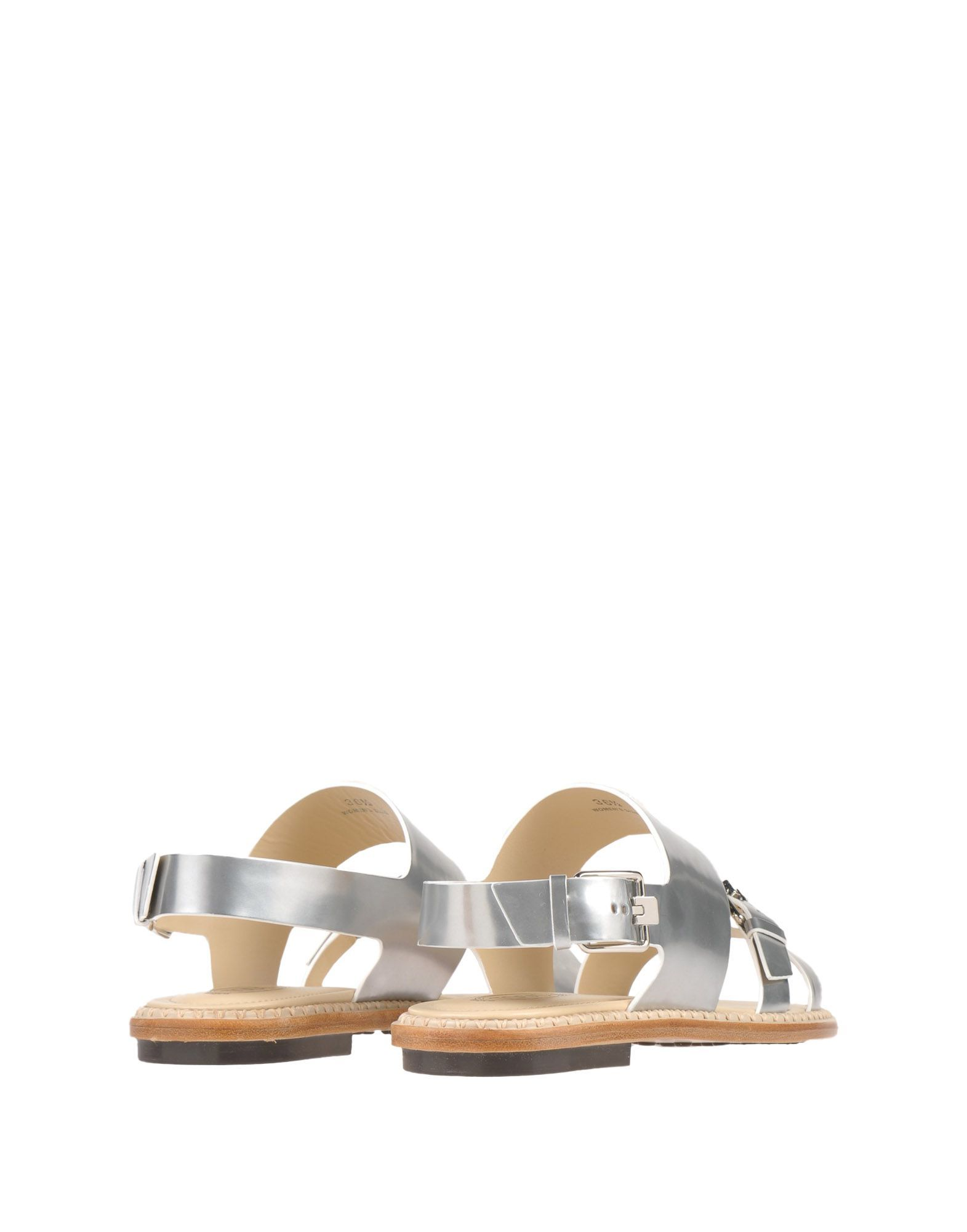 Tod's Silver Leather Sandals