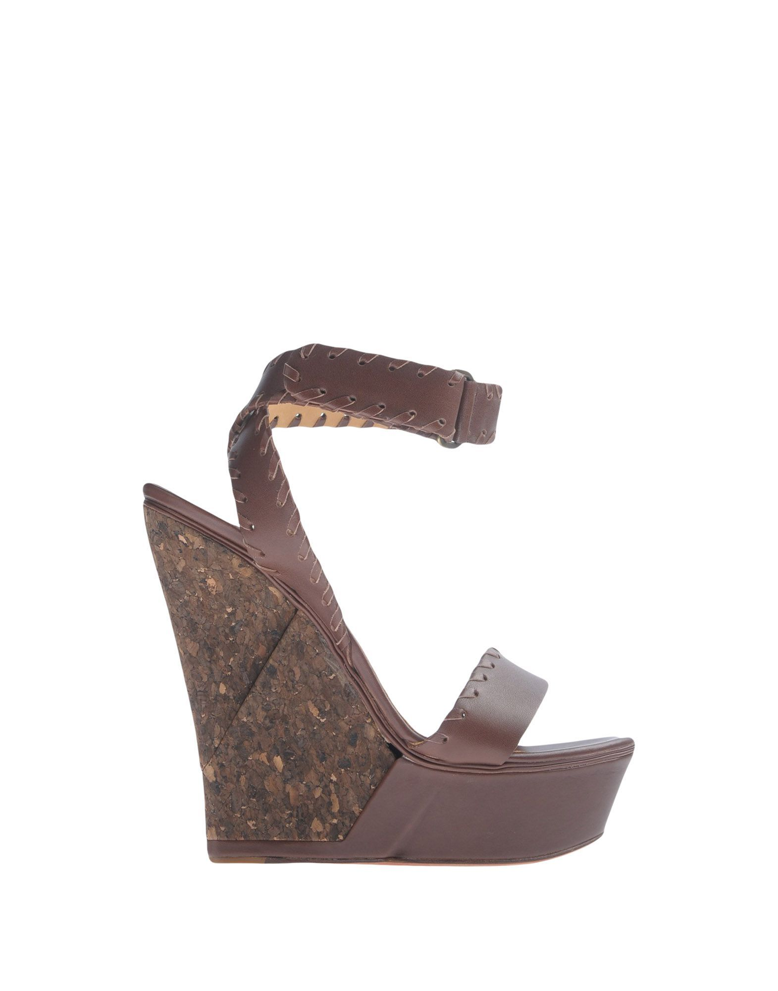 Lanvin Cocoa Leather Wedges