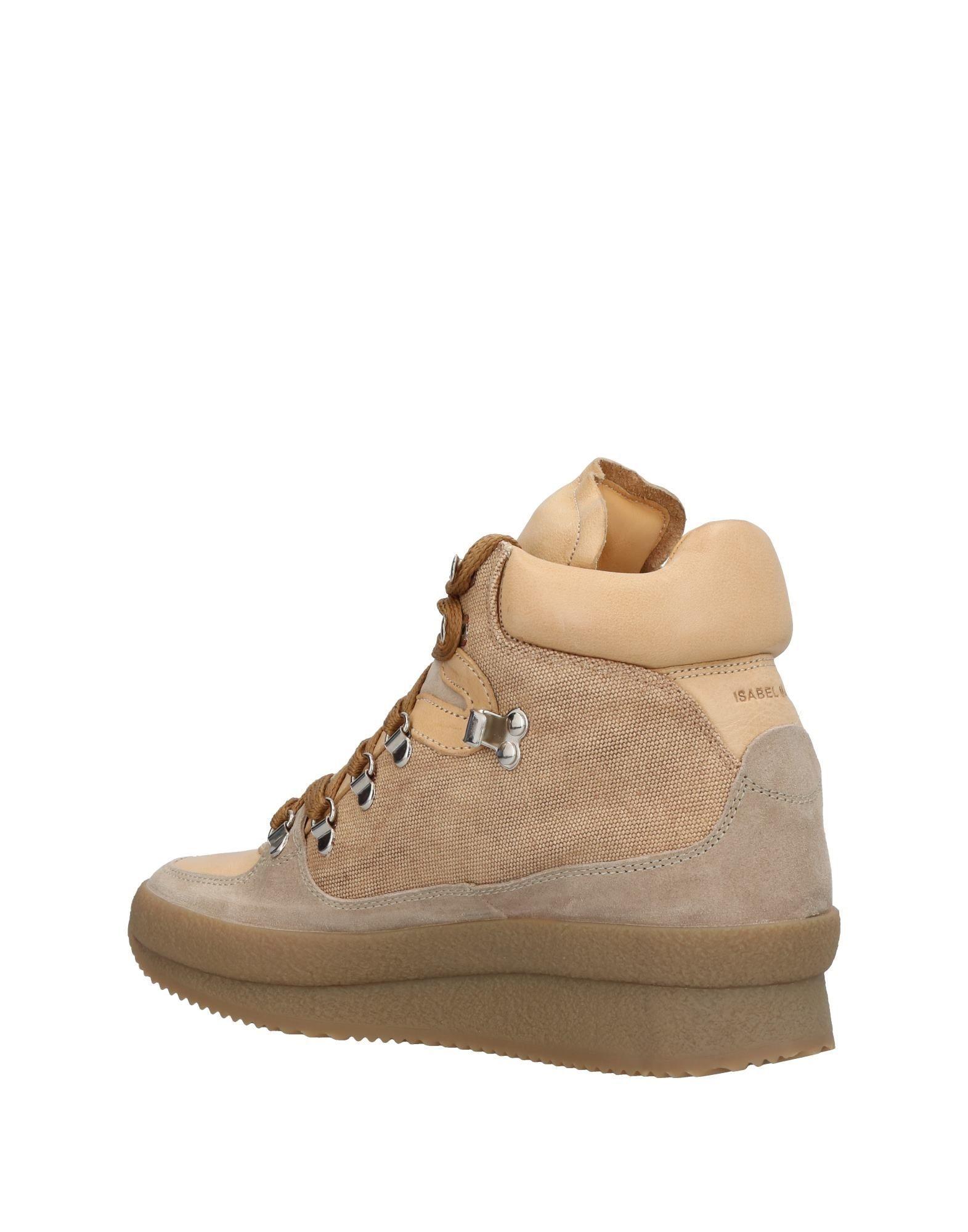 Isabel Marant Etoile Beige Leather Sneakers