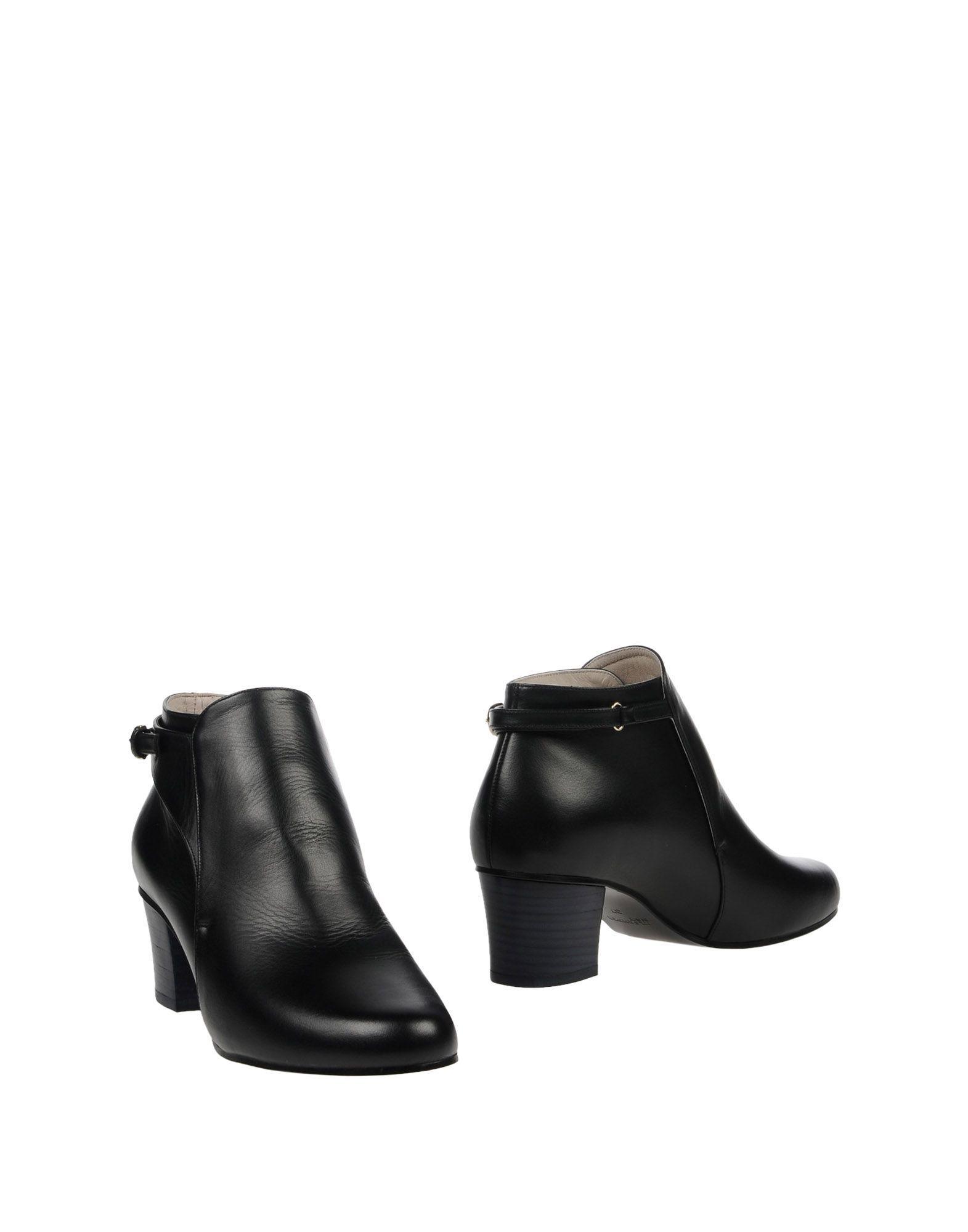 Jil Sander Navy Black Calf Leather Ankle Boots