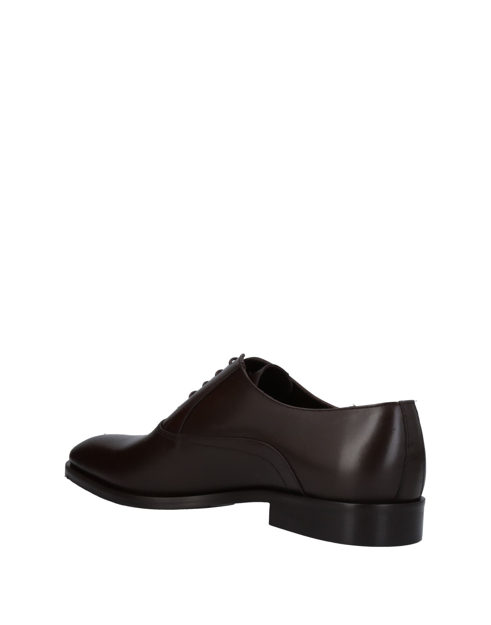 Alessandro Dell'Acqua Dark Brown Calf Leather Lace Up Shoes