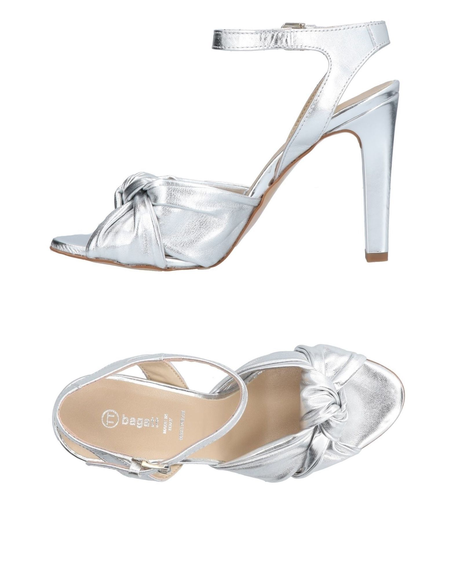 Bagatt Silver Leather Heels