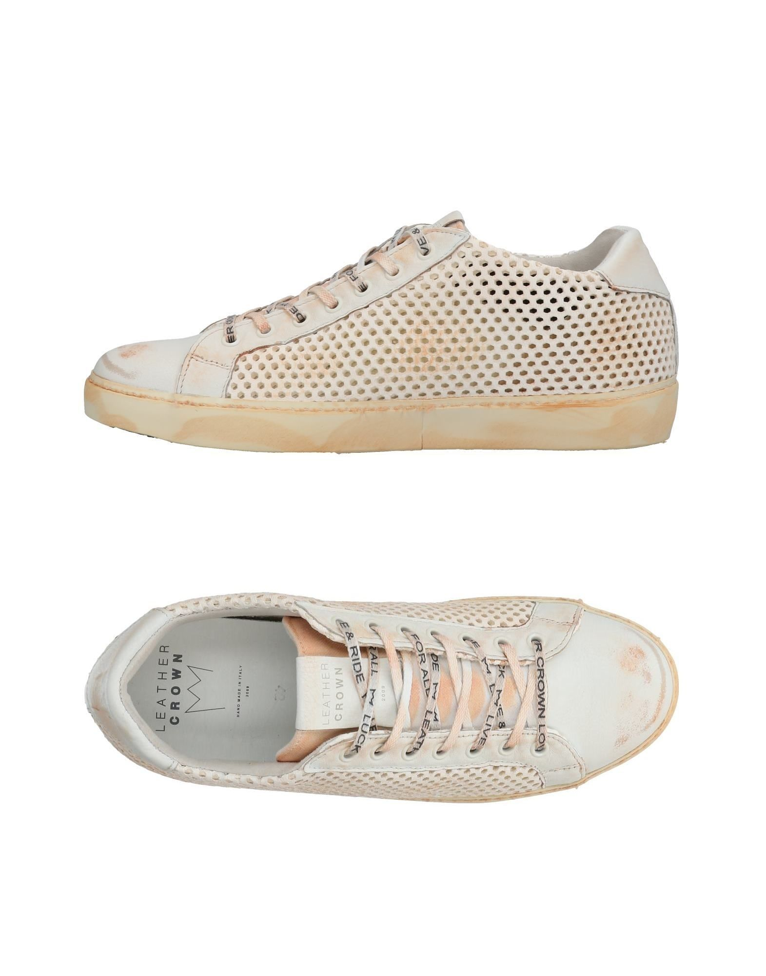 Leather Crown Orange Leather Sneakers