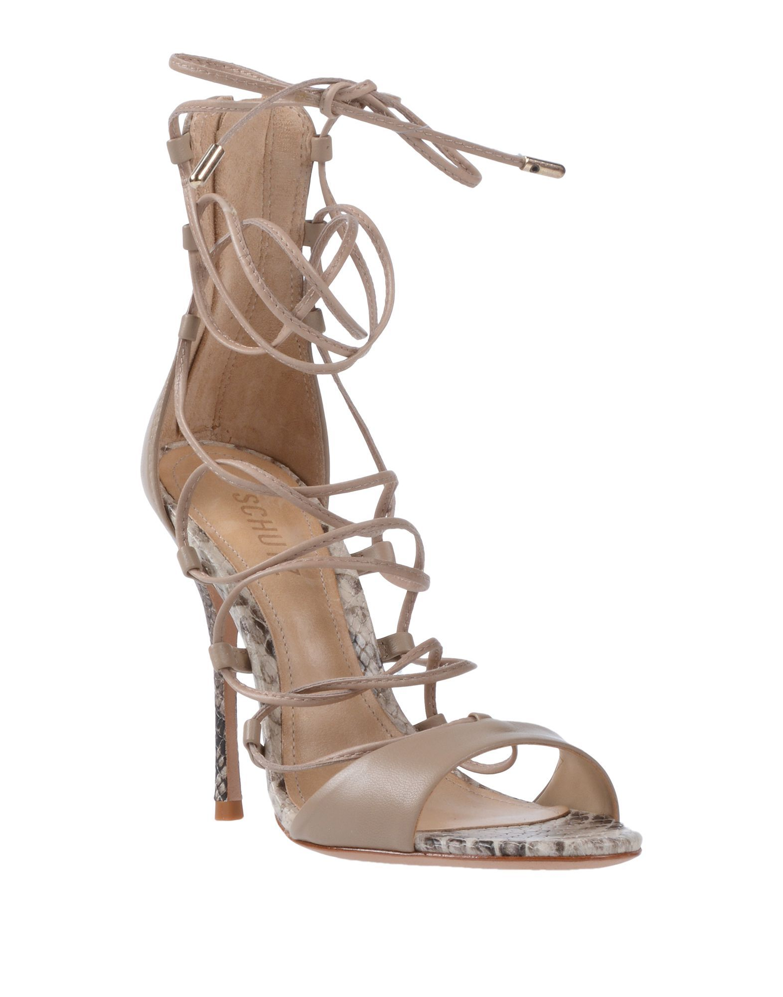 Schutz Beige Leather Heels