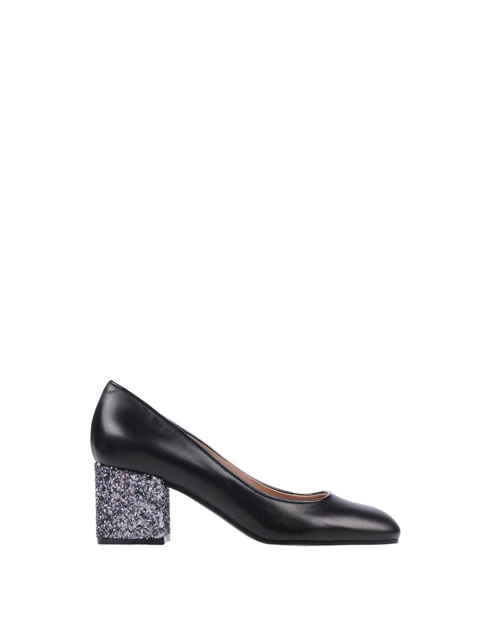 Pollini Black Calf Leather Heels