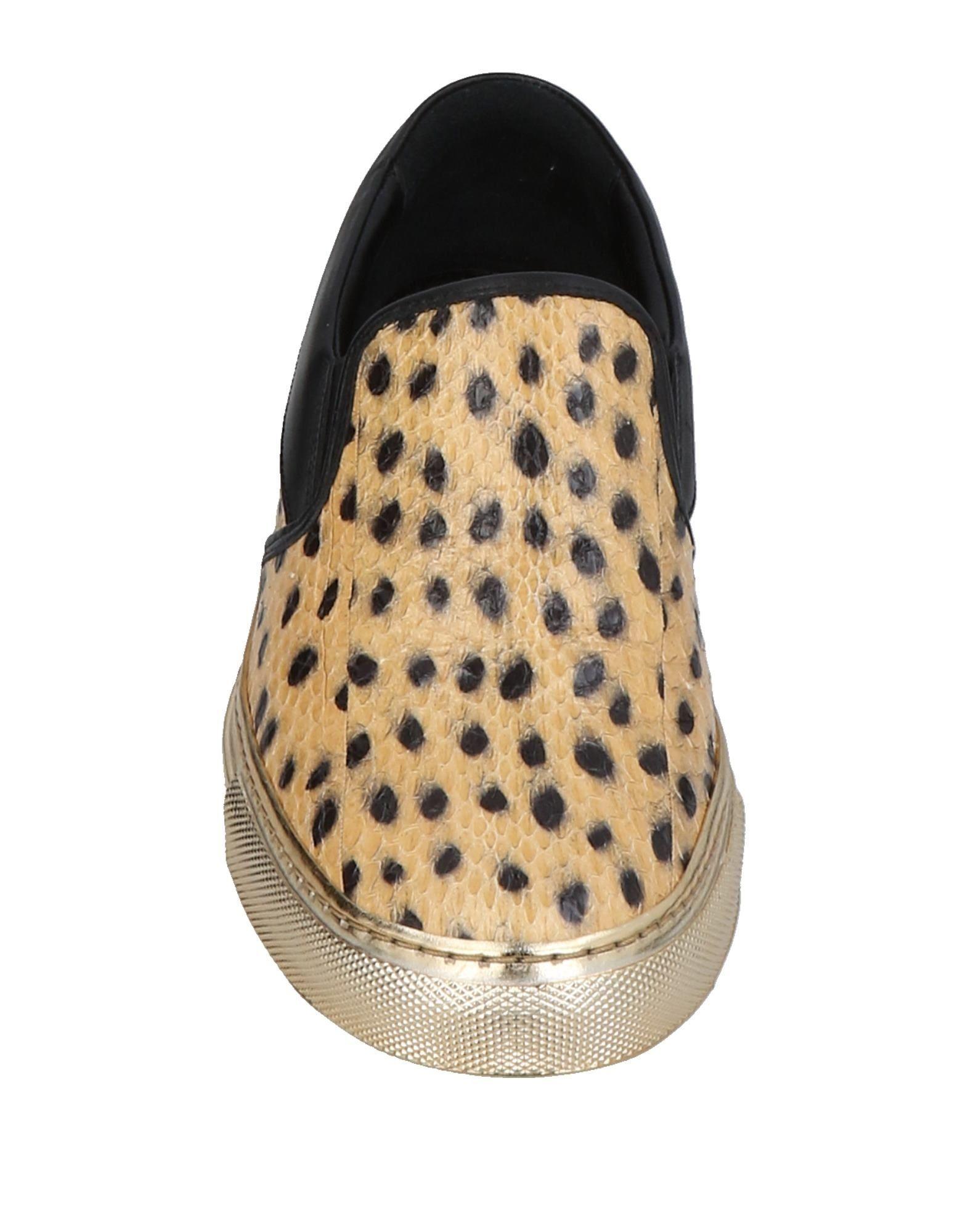 Sonia Rykiel Sand Print Leather Loafers