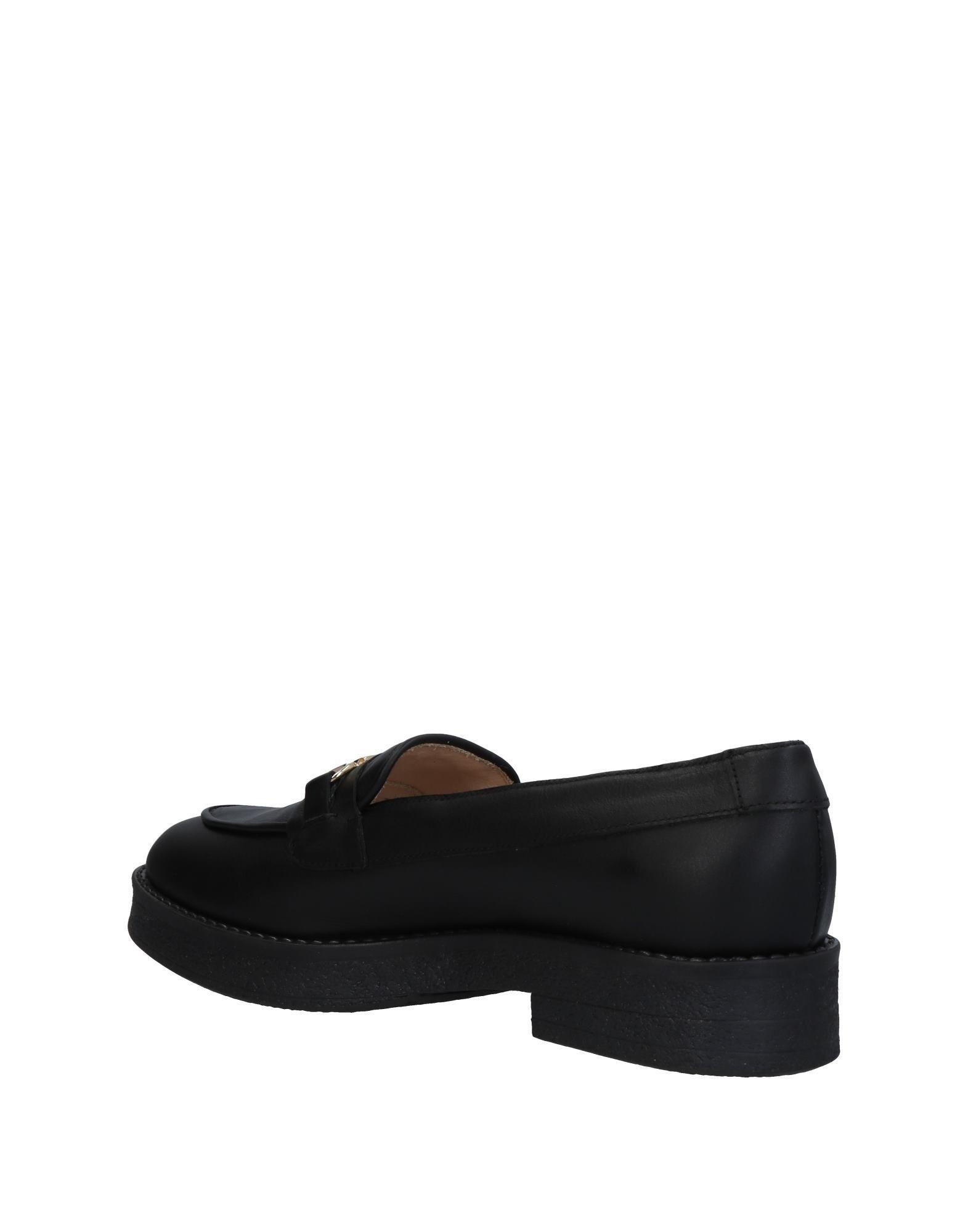 Liu Jo Black Leather Loafers