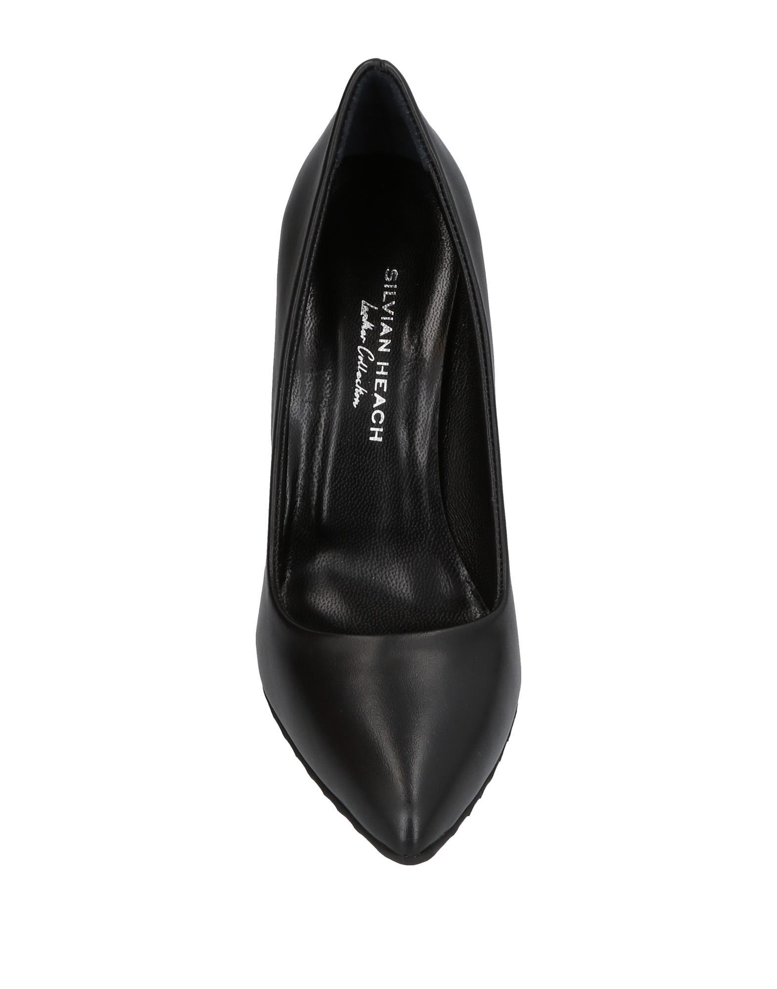 Silvian Heach Black Leather Heels