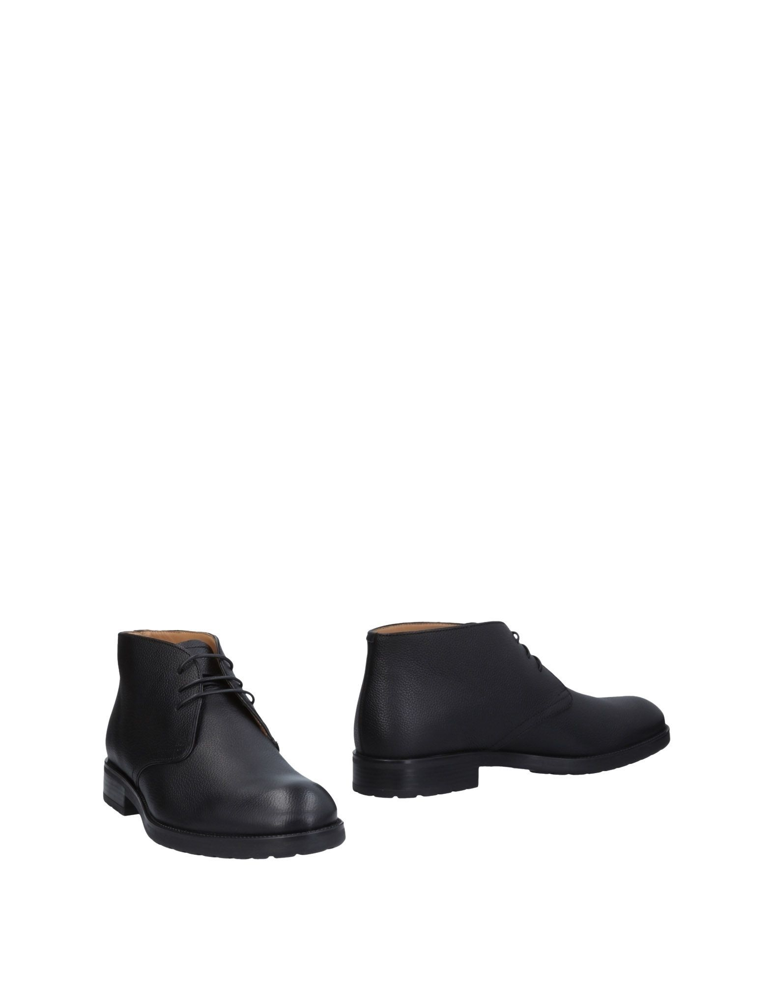 Bally Black Textured Leather Boots