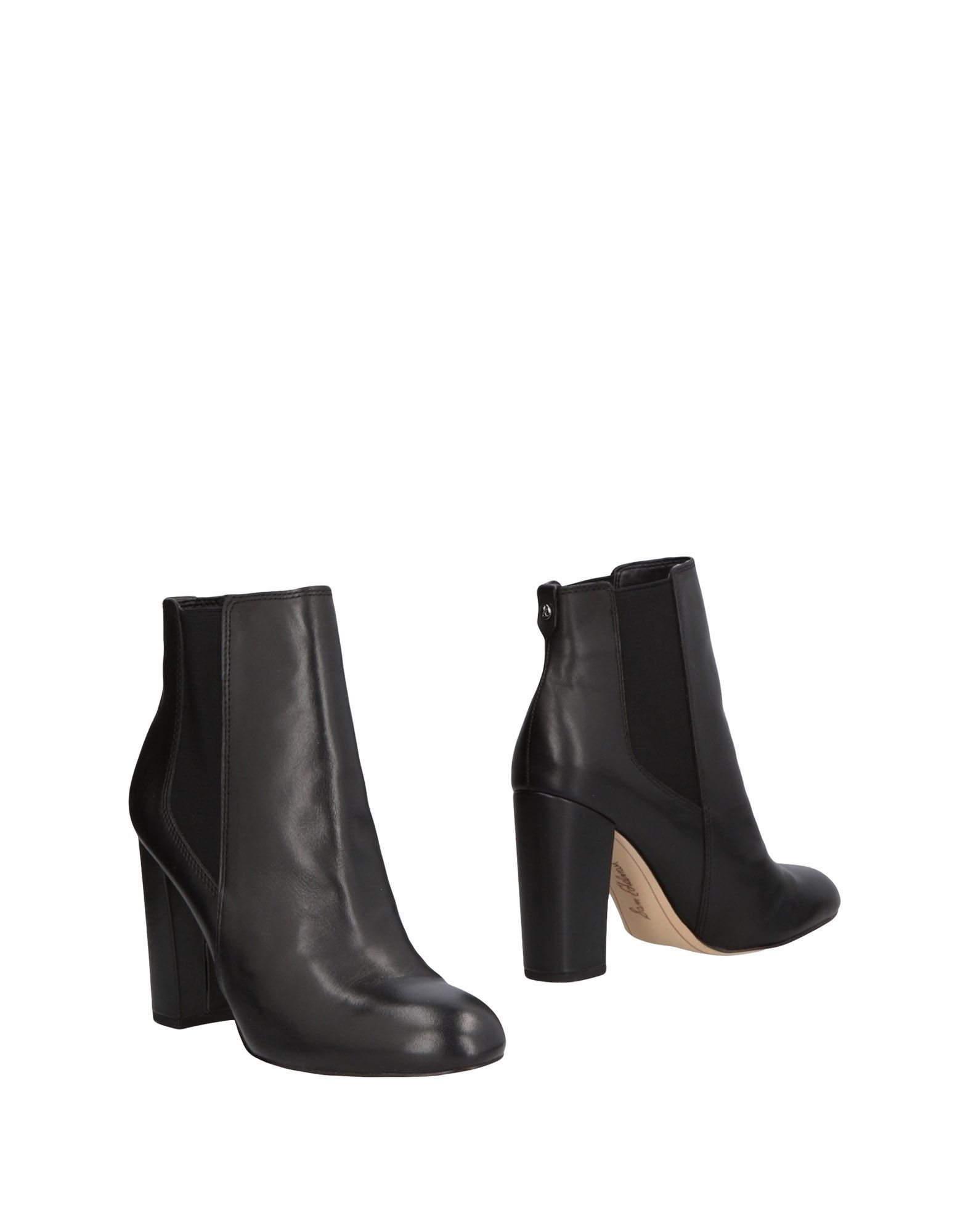 Sam Edelman Black Leather Ankle Boots