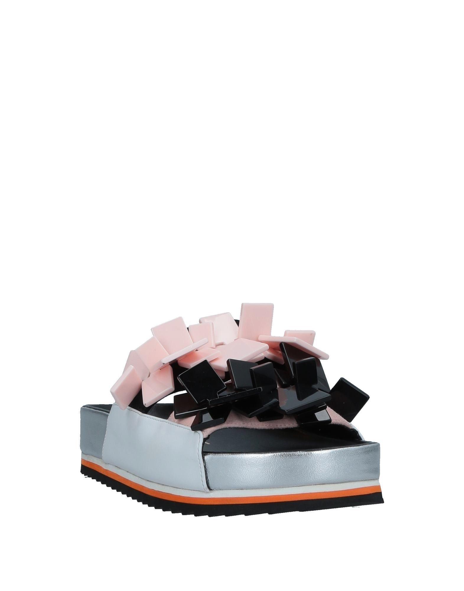 Kat Maconie Black Leather Sliders