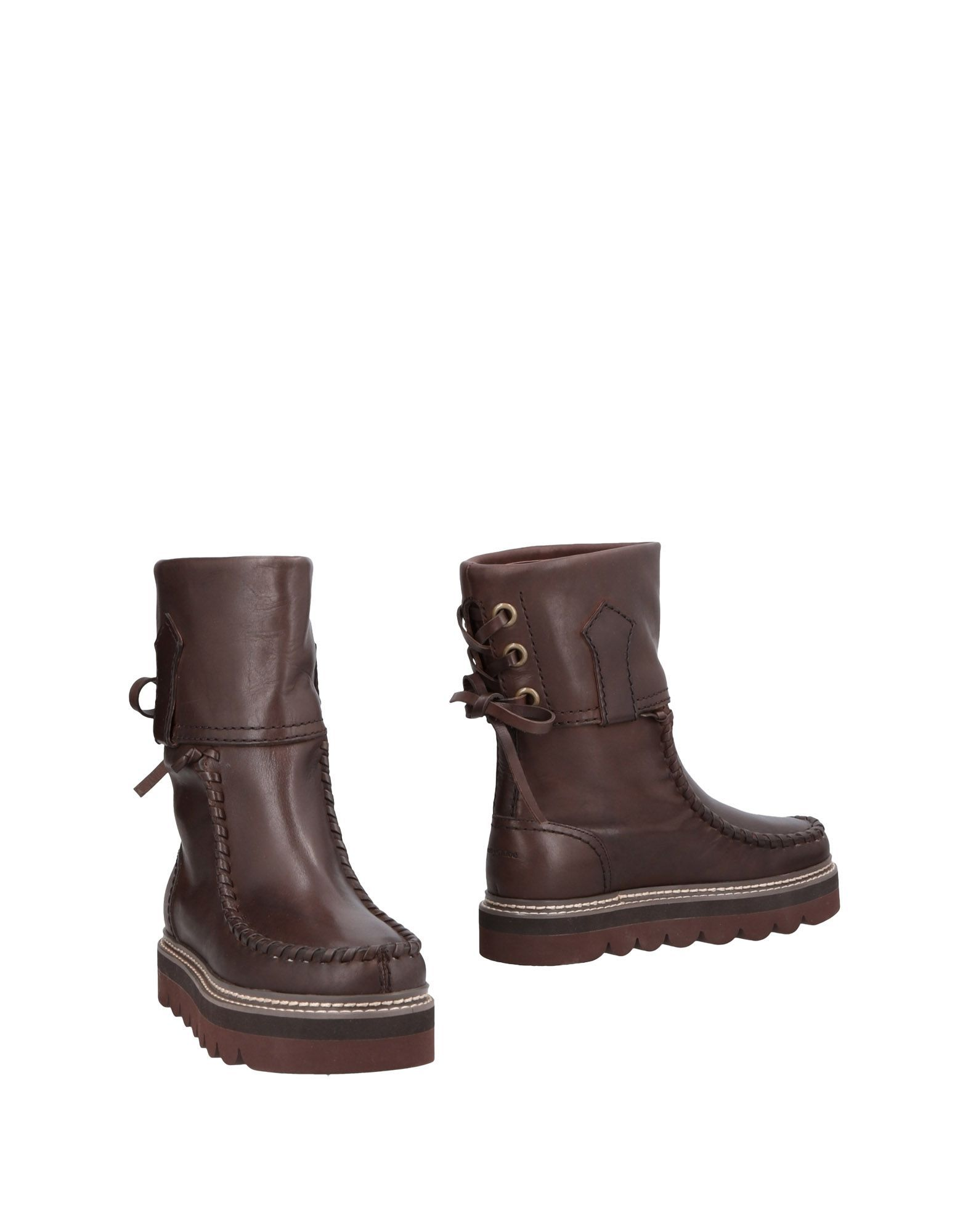 See By Chloe Dark Brown Calf Leather Boots