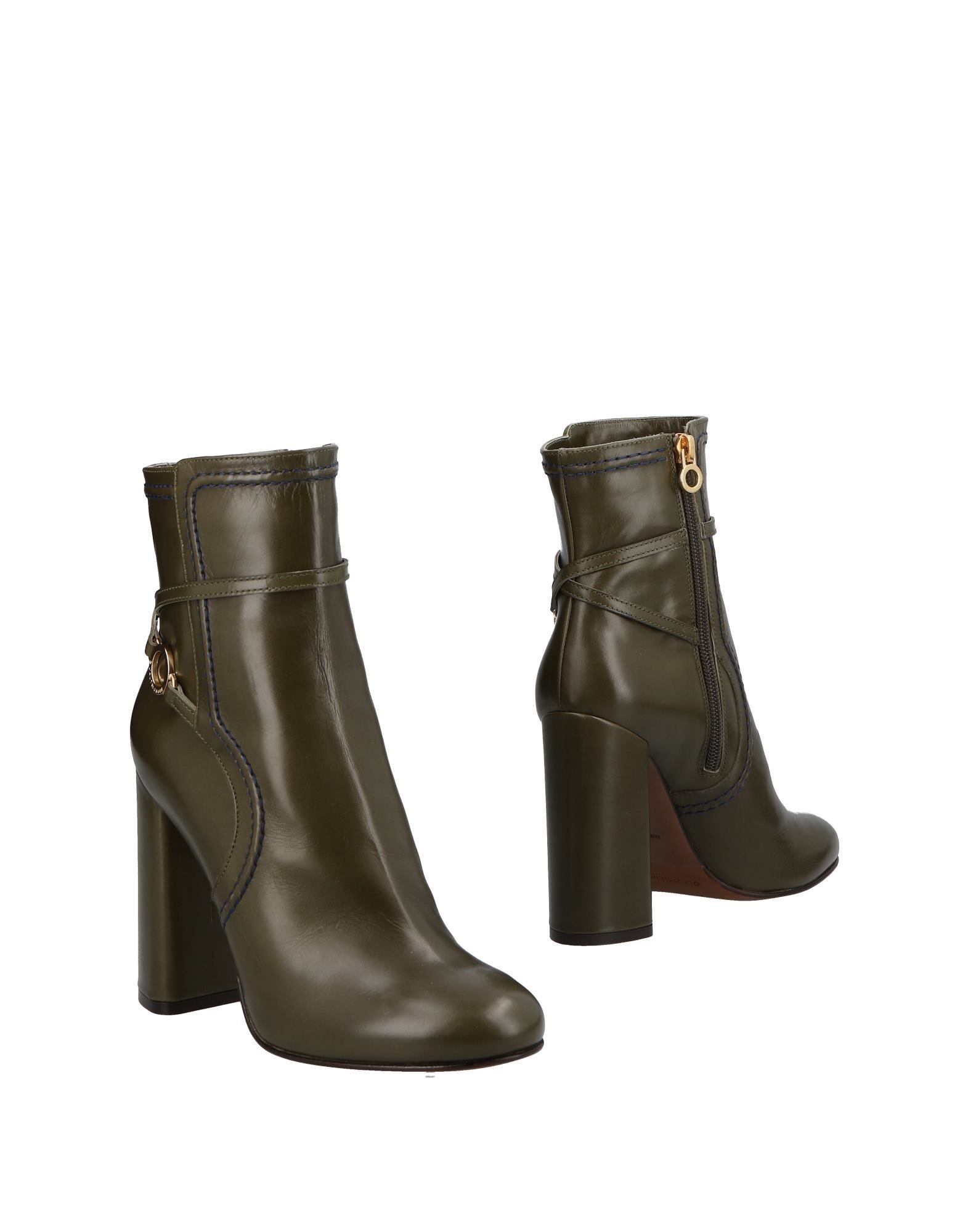 L' Autre Chose Military Green Calf Leather Ankle Boots