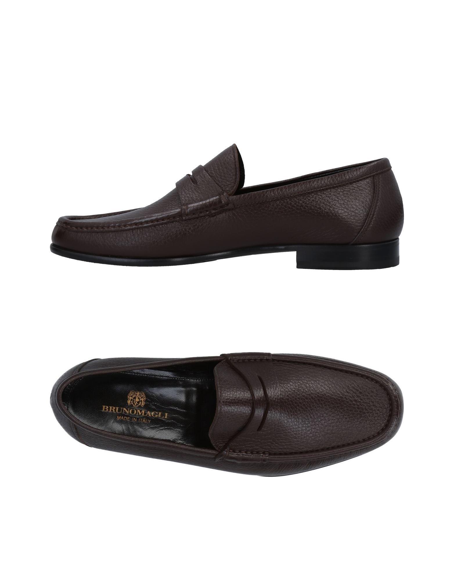Bruno Magli Cocoa Textured Leather Loafers