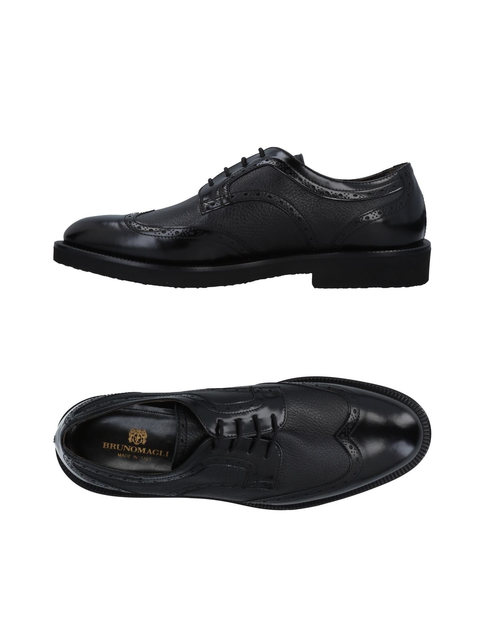 Bruno Magli Black Leather Lace Up Shoes