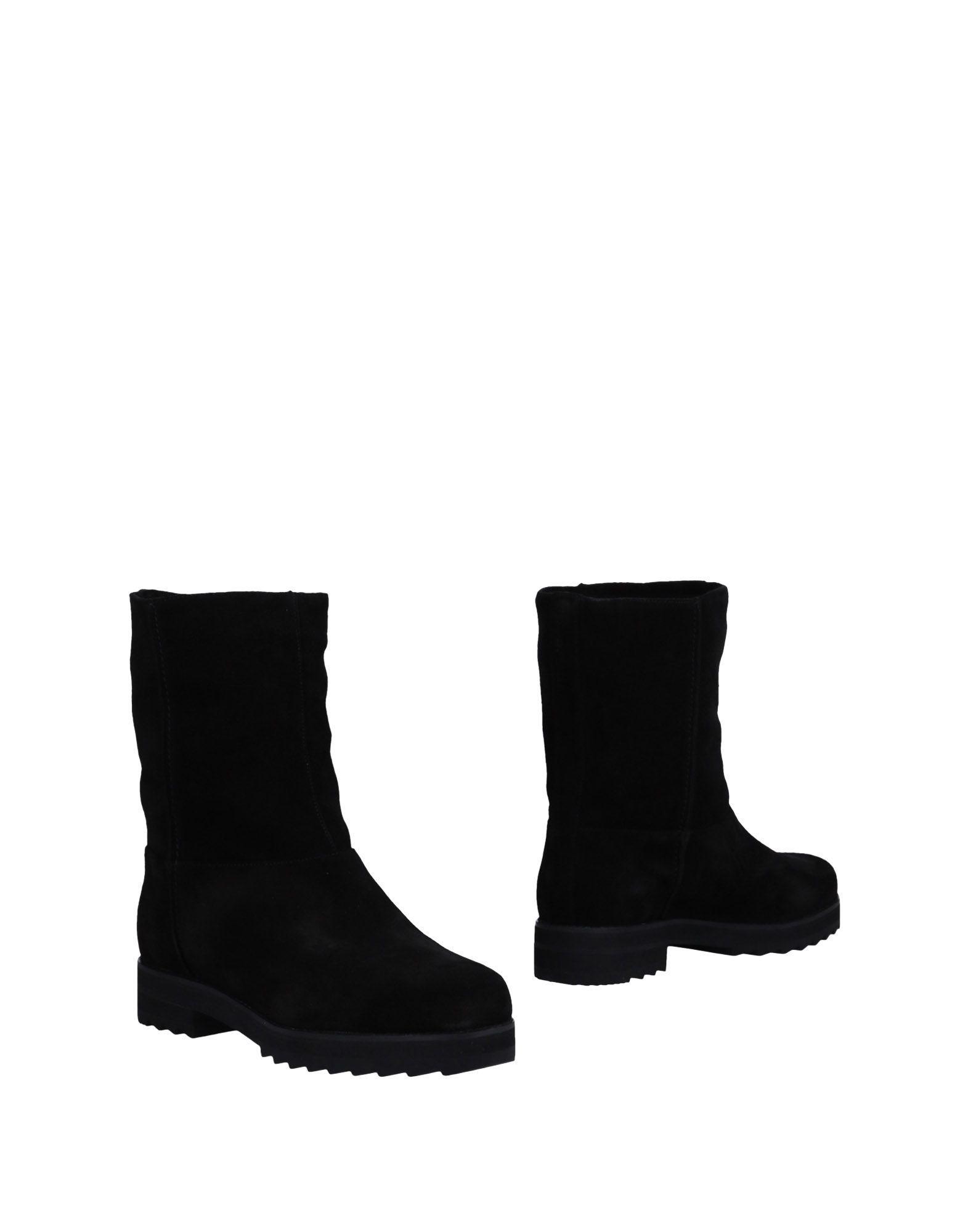 Jil Sander Navy Black Leather Ankle Boots