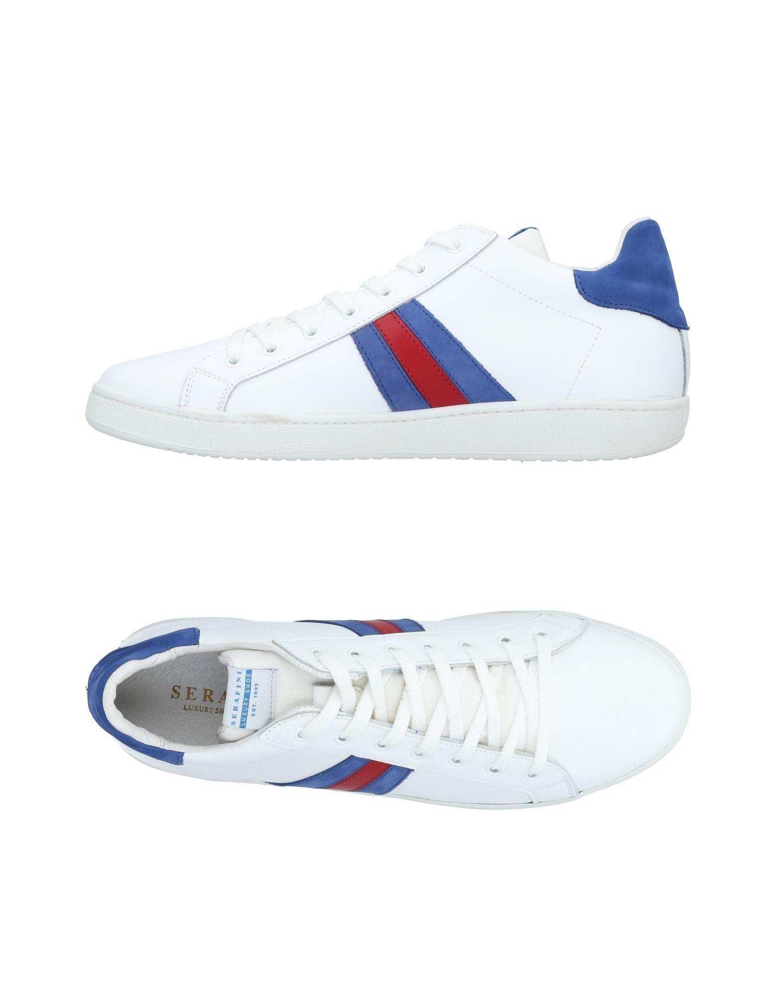 Serafini Luxury White Leather Sneakers