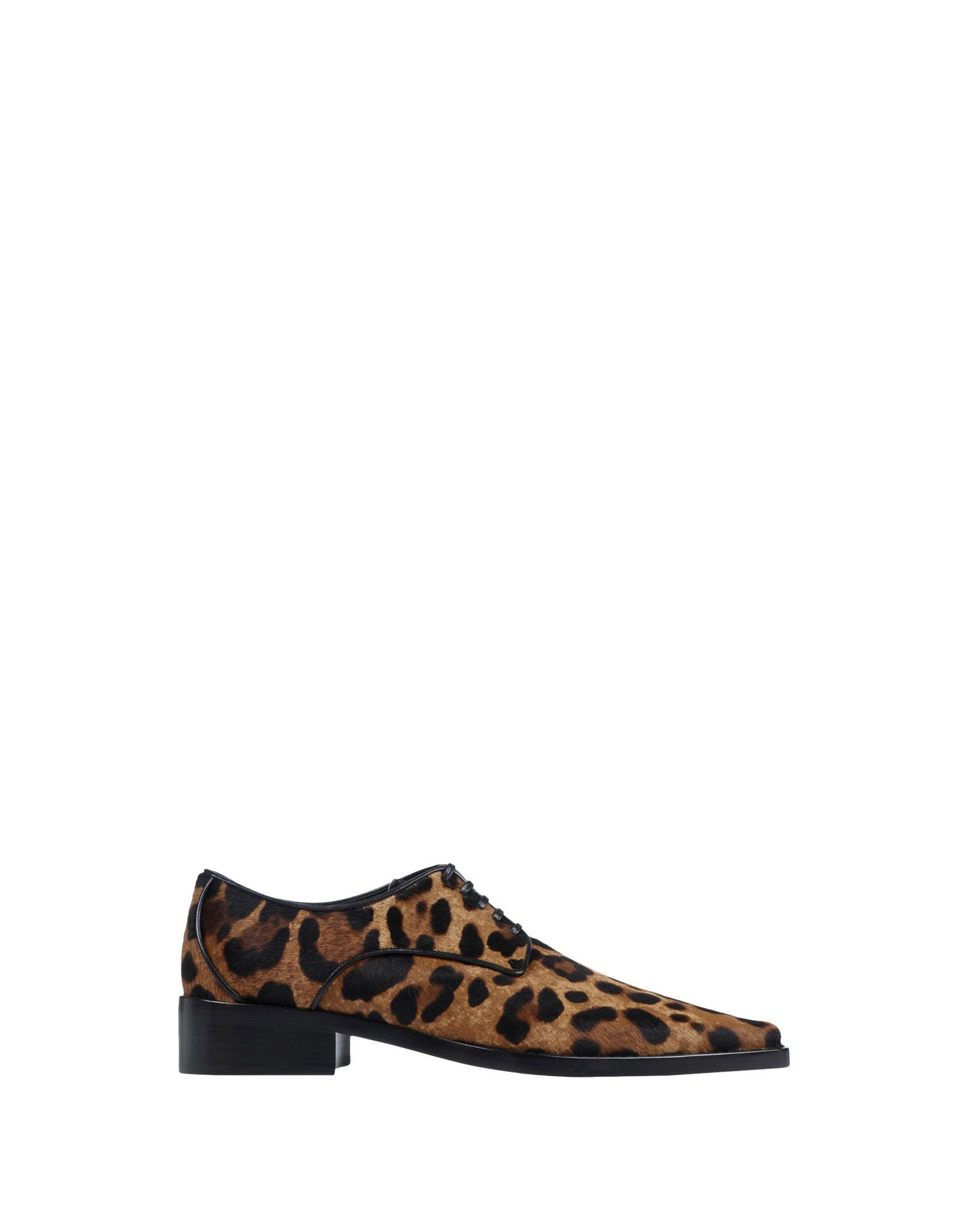 Dolce & Gabbana Leopard Print Calf Leather Lace Up Shoes