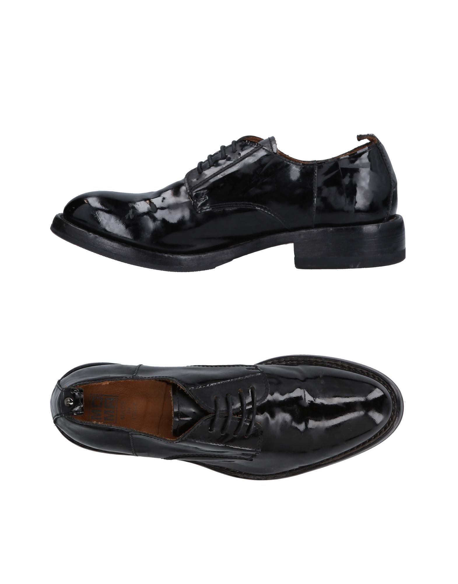 Moma Black Leather Lace Up Shoes